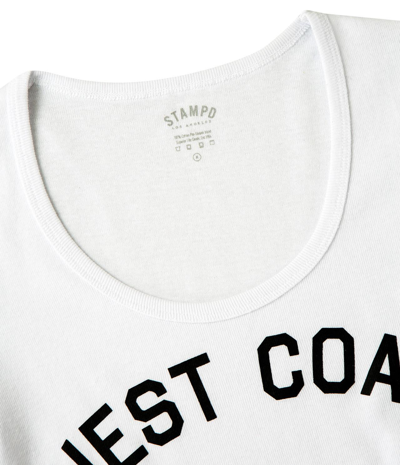 7dfacf2088cdf Stampd West Coast Crop Top in White - Lyst