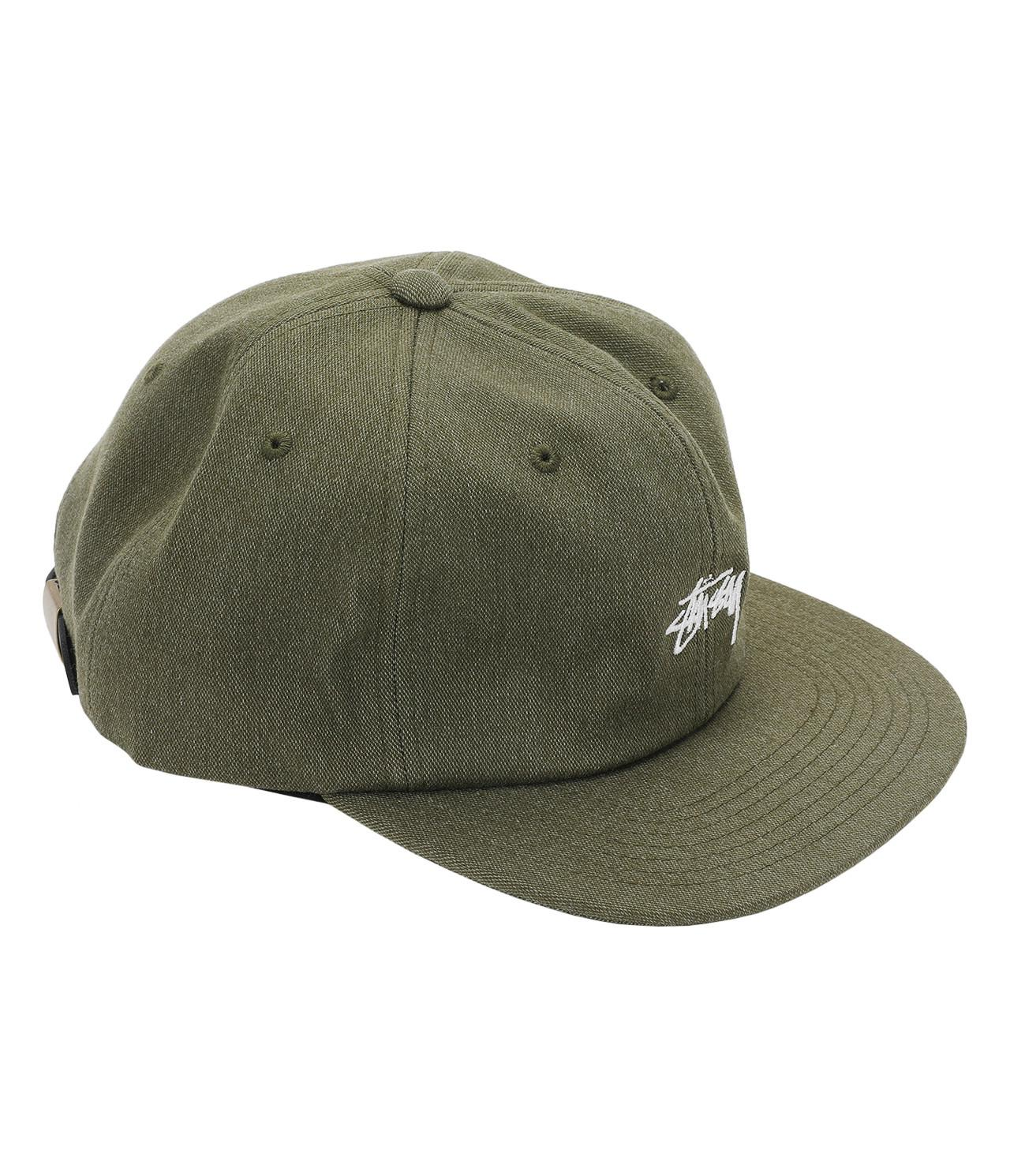 b4c4add63e9 Lyst - Stussy Melange Denim Strapback Cap in Green for Men