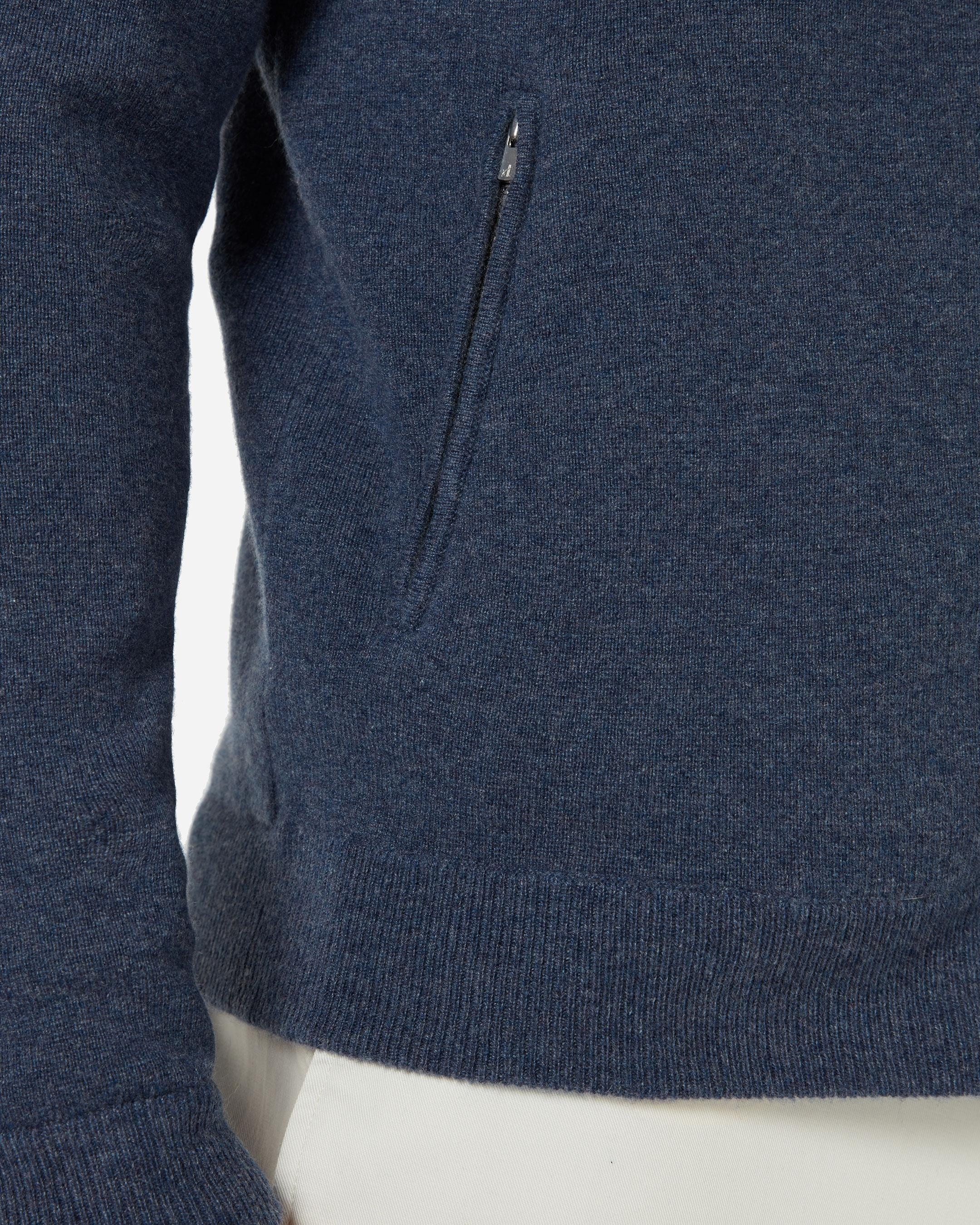 4e5c17f35c4 N.Peal Cashmere Knitted Cashmere Bomber Jacket in Blue for Men - Lyst