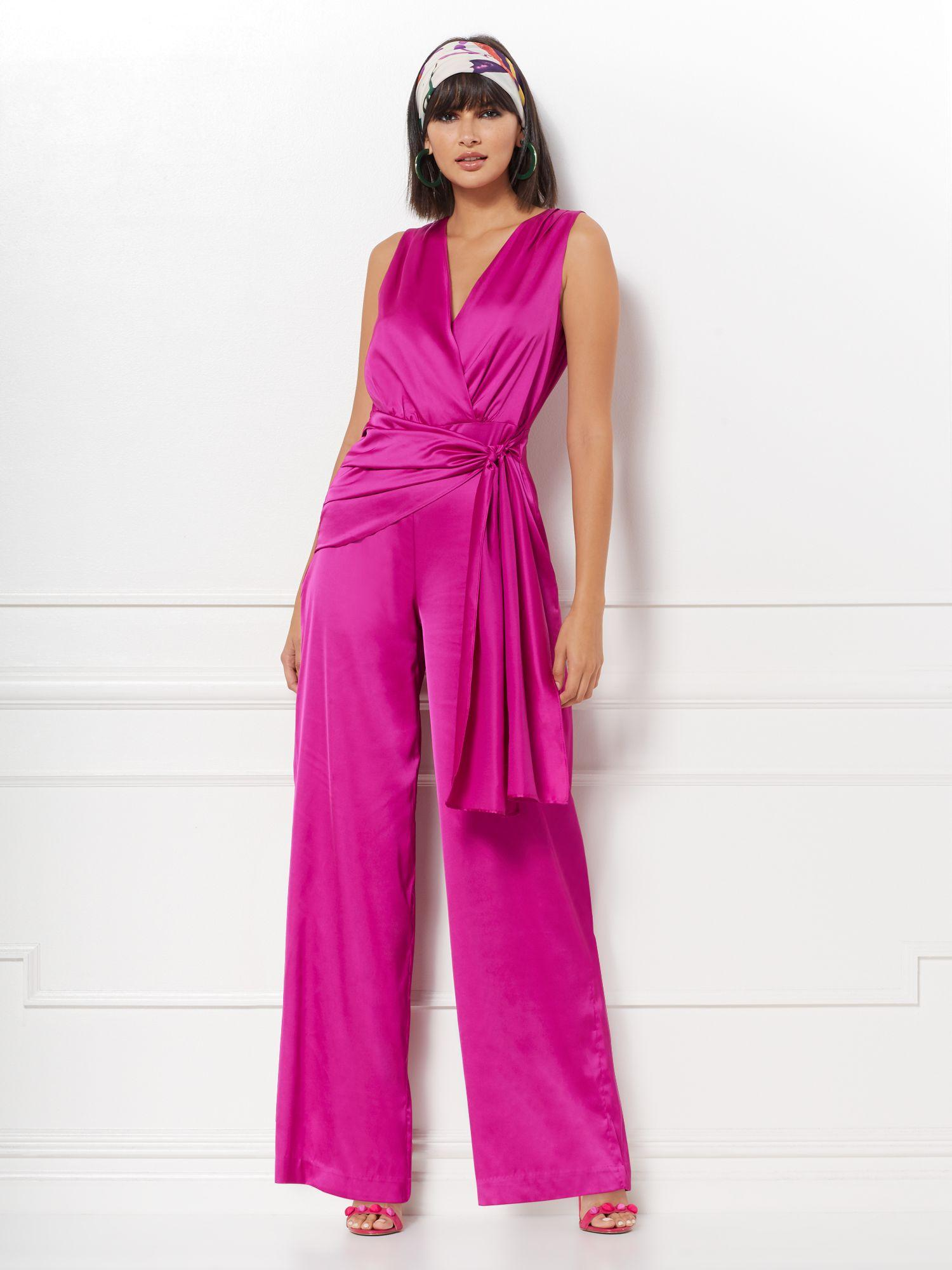 86d029ad New York & Company Chalina Jumpsuit - Eva Mendes Collection in Pink ...