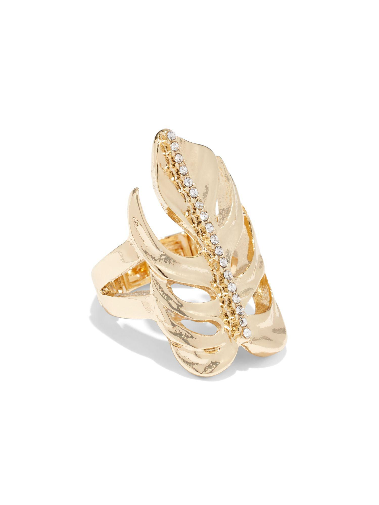 lyst new york pany goldtone palm leaf ring in metallic Flower and Leaf Ring gallery