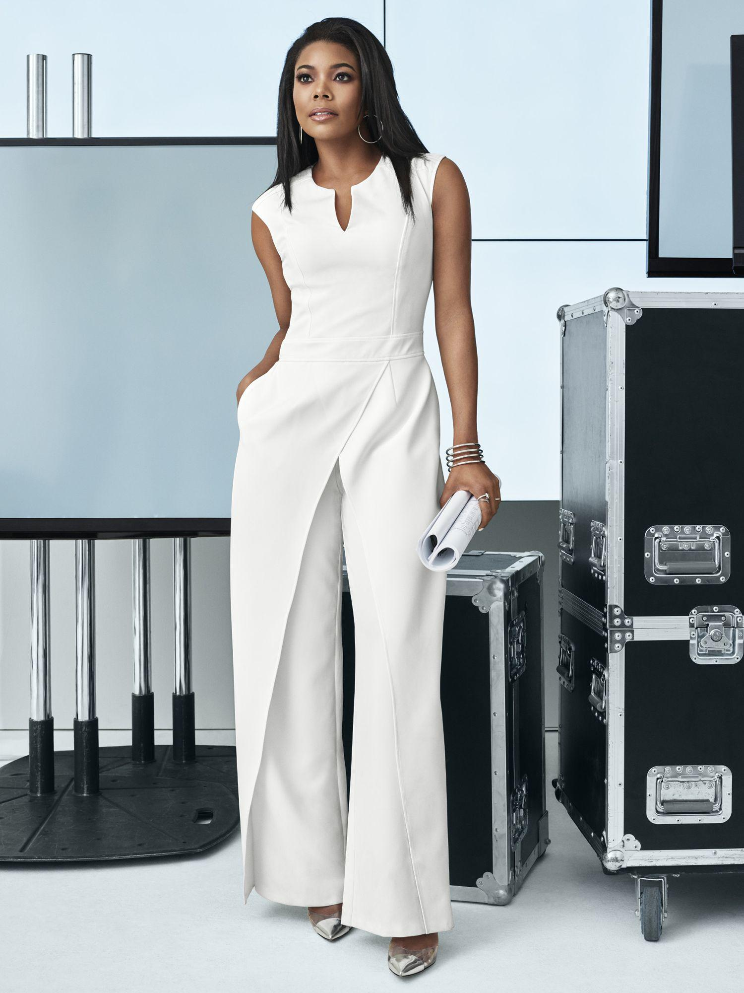 259f8d97 New York & Company 7th Avenue - White Seamed Jumpsuit in White - Lyst