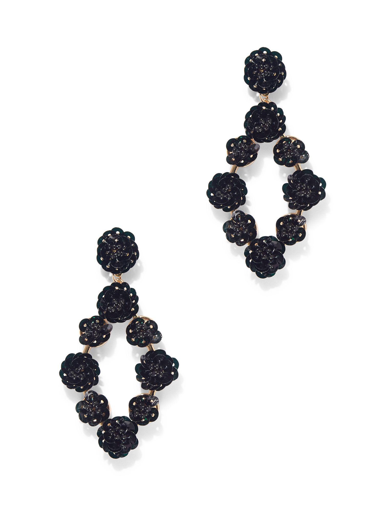 441388a95 Lyst - New York & Company Dazzling Drop Earring in Black