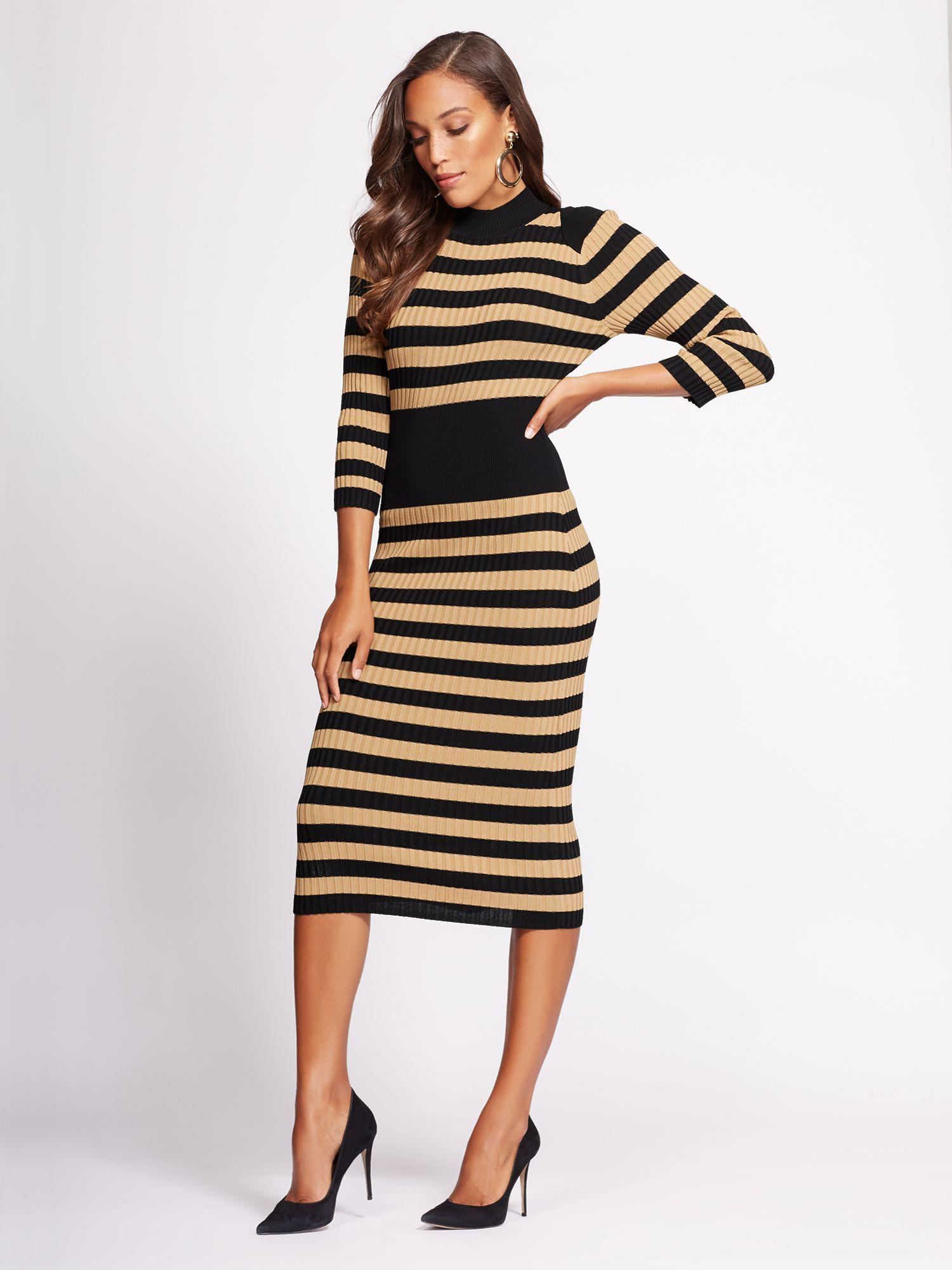 750fbde9 New York & Company Gabrielle Union Collection - Stripe Sweater Dress ...