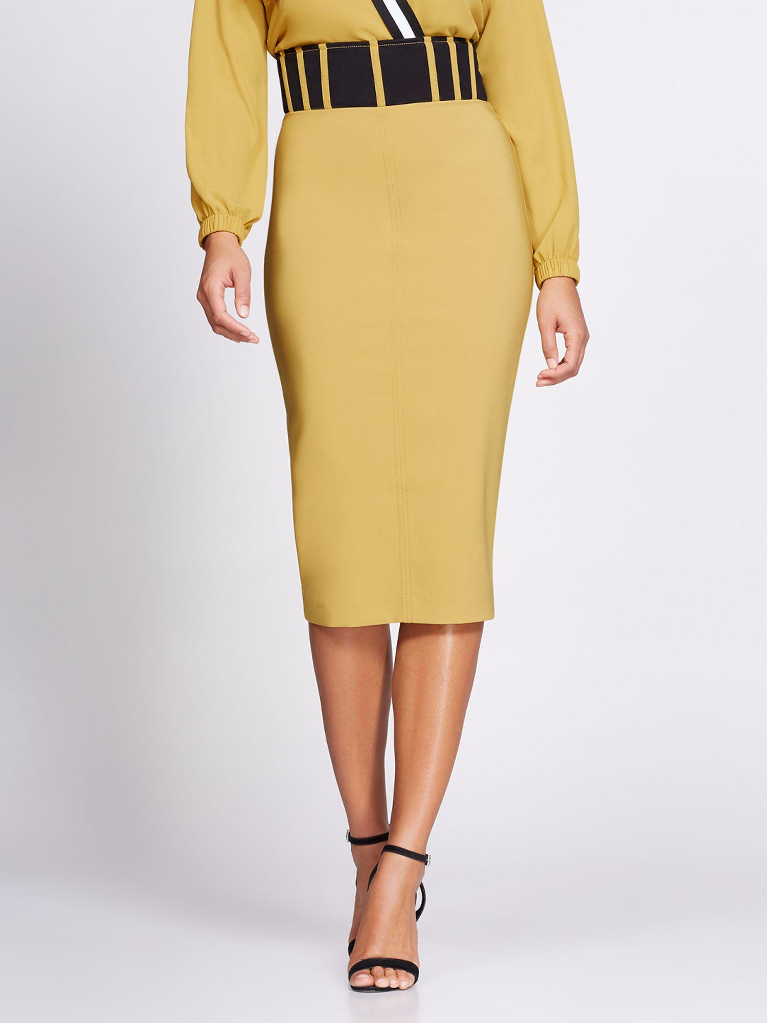 c9ae57c86f New York   Company. Women s Yellow Corset Pencil Skirt - Gabrielle Union  Collection