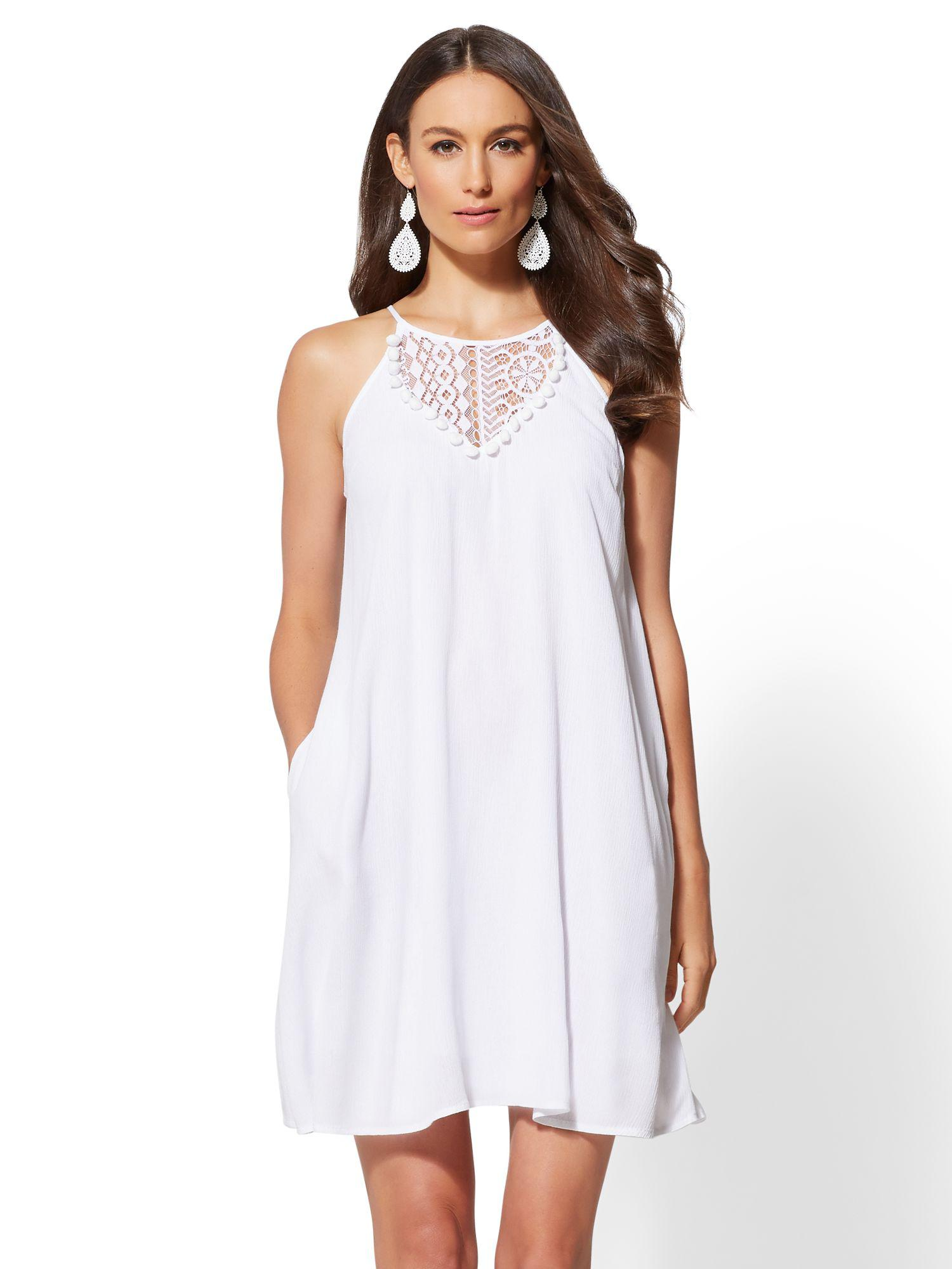 8212a8c4a0 Gallery. Previously sold at  New York   Company · Women s White Lace Dresses  ...