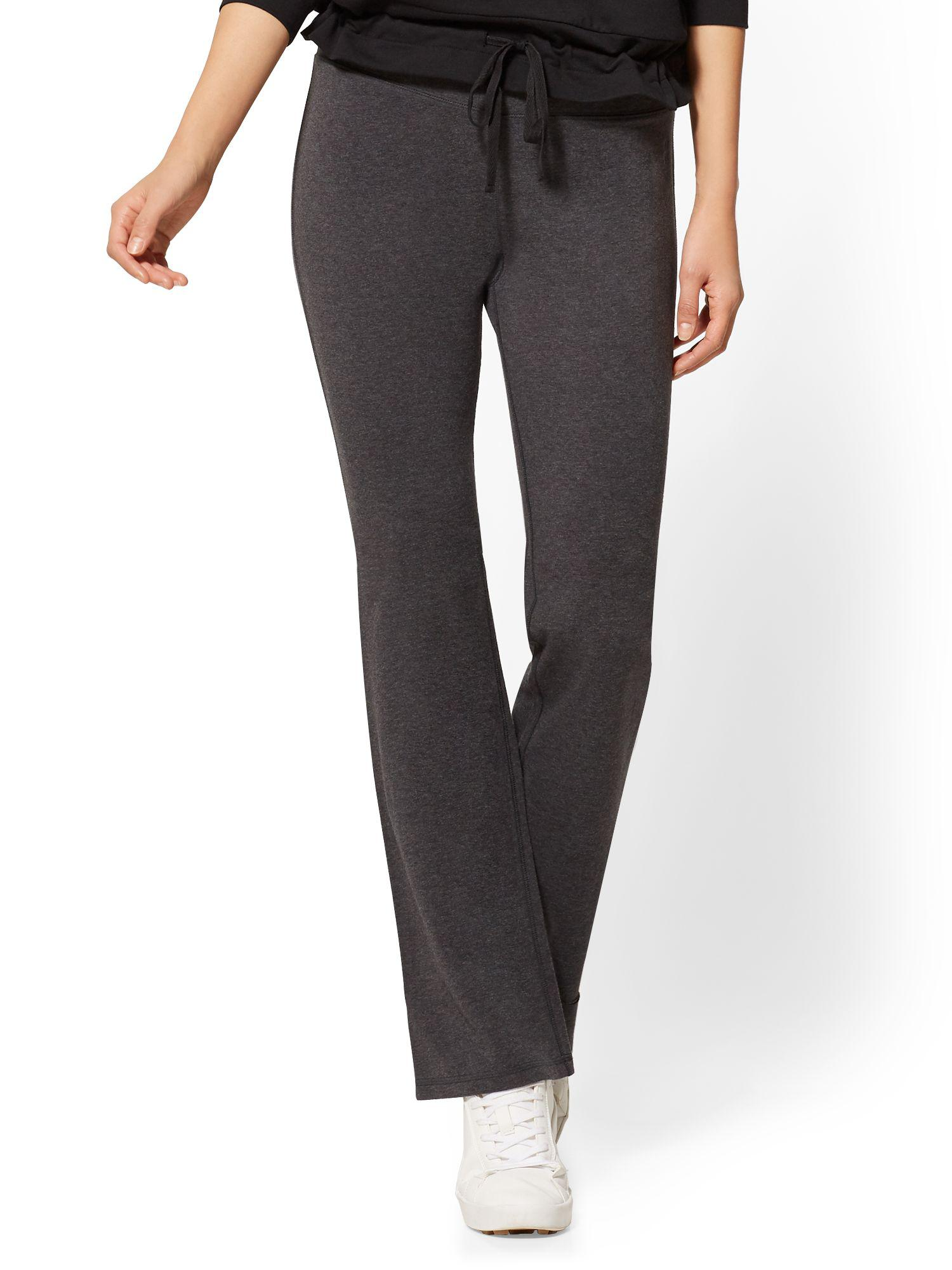 ff11981151 Lyst - New York & Company Petite Grey Bootcut Yoga Pant in Gray