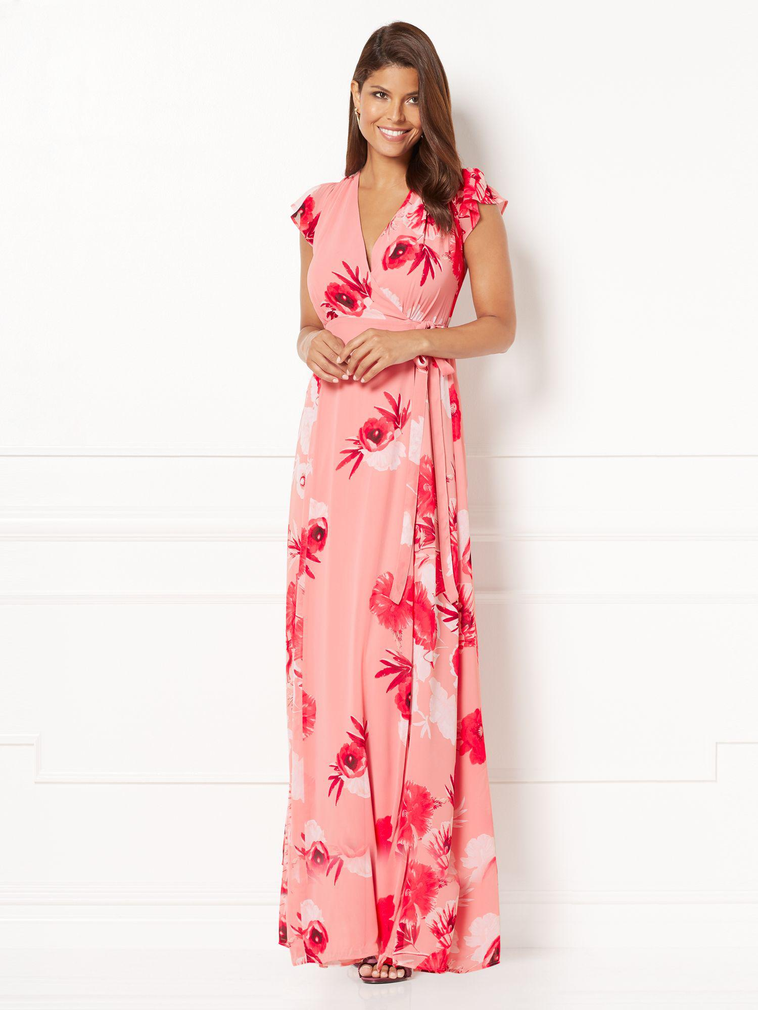 e1130b9dd24 Lyst - New York   Company Eva Mendes Collection - Allison Wrap Dress ...
