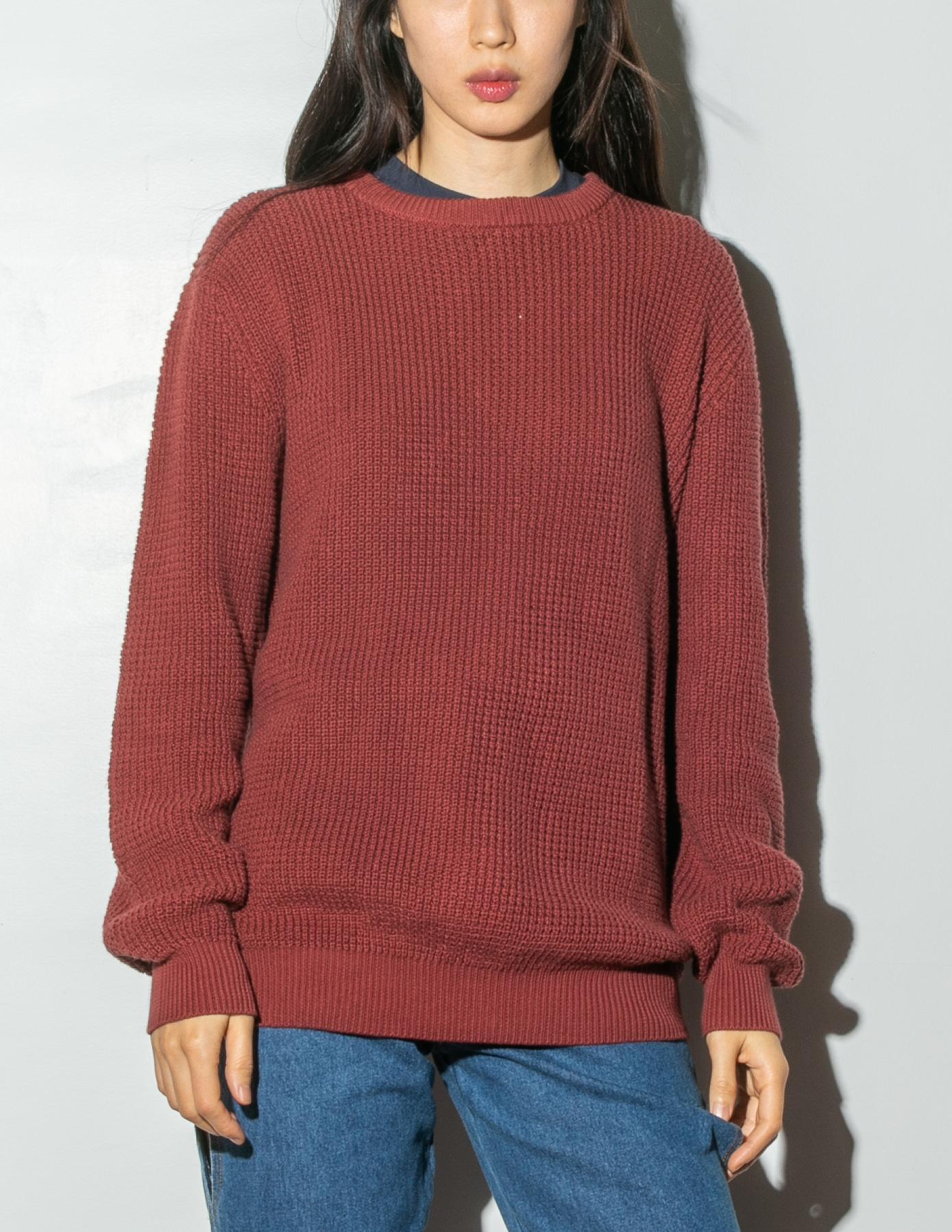 a83a40b2f494 Lyst - OAK Long Crewneck Sweater - Burnt Orange in Red for Men