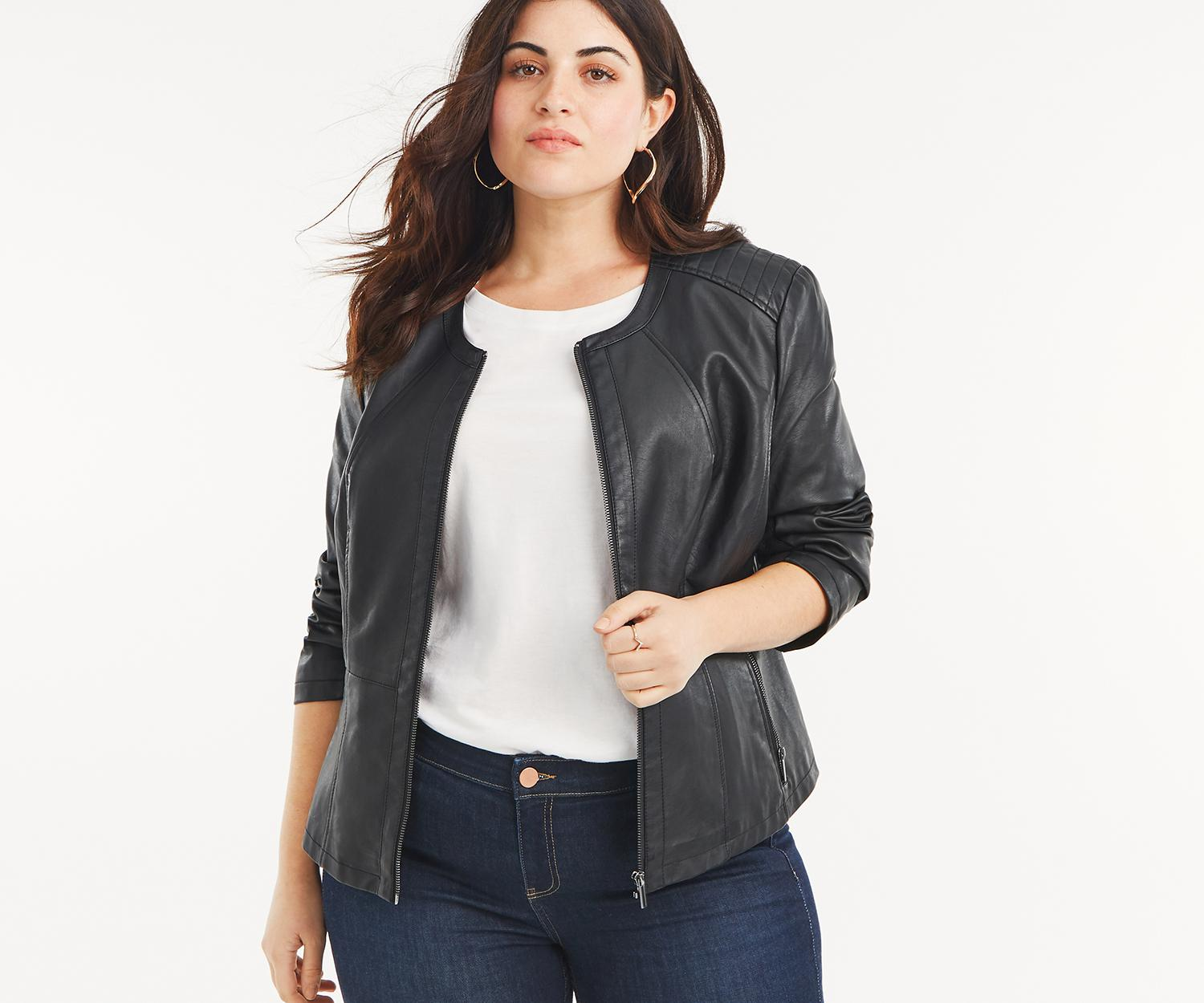 e31fb2a7c796 Oasis Curve Collarless Jacket* in Black - Lyst