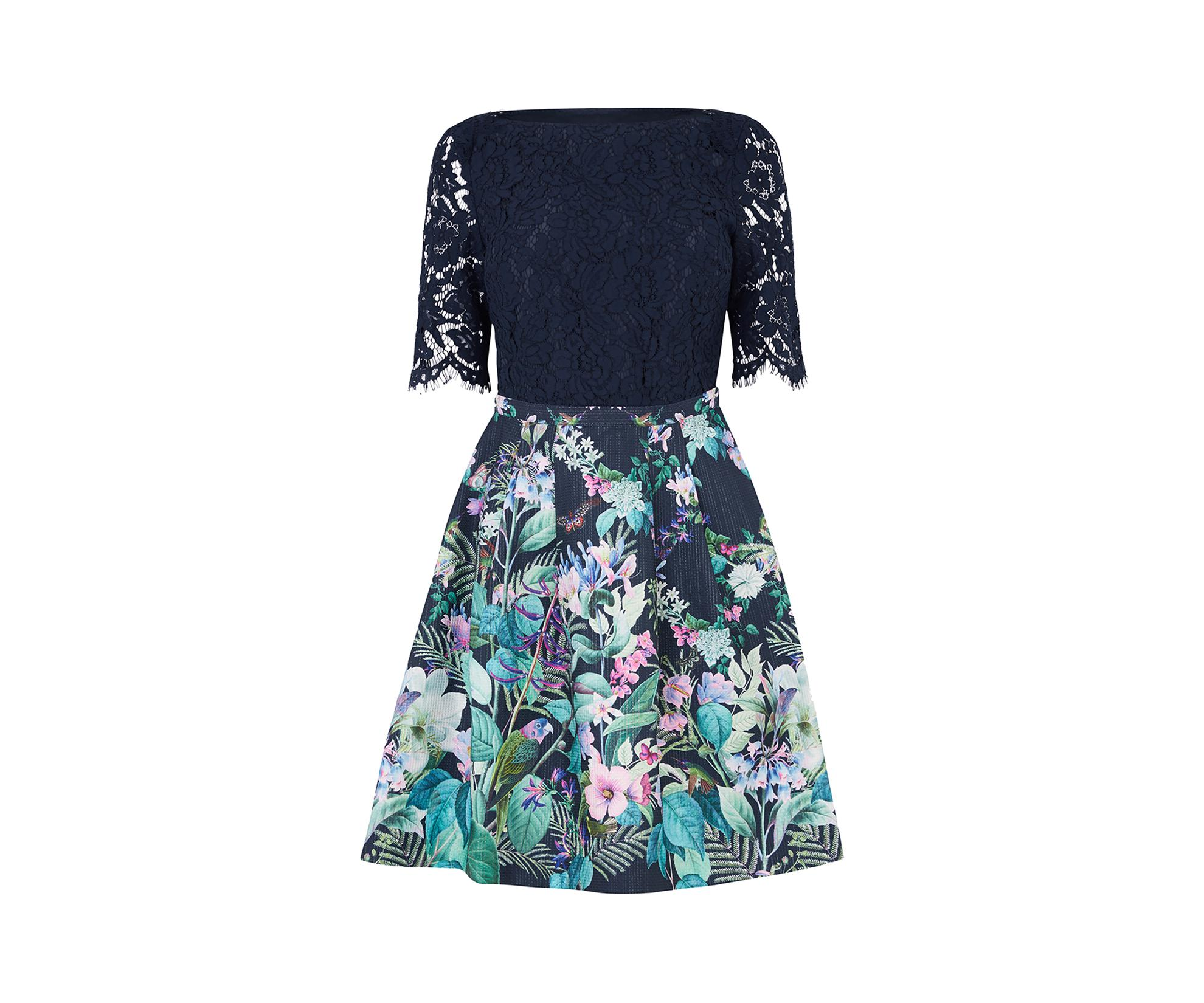 90a3e5354c6 Lace Top Floral Skirt Dress - Gomes Weine AG
