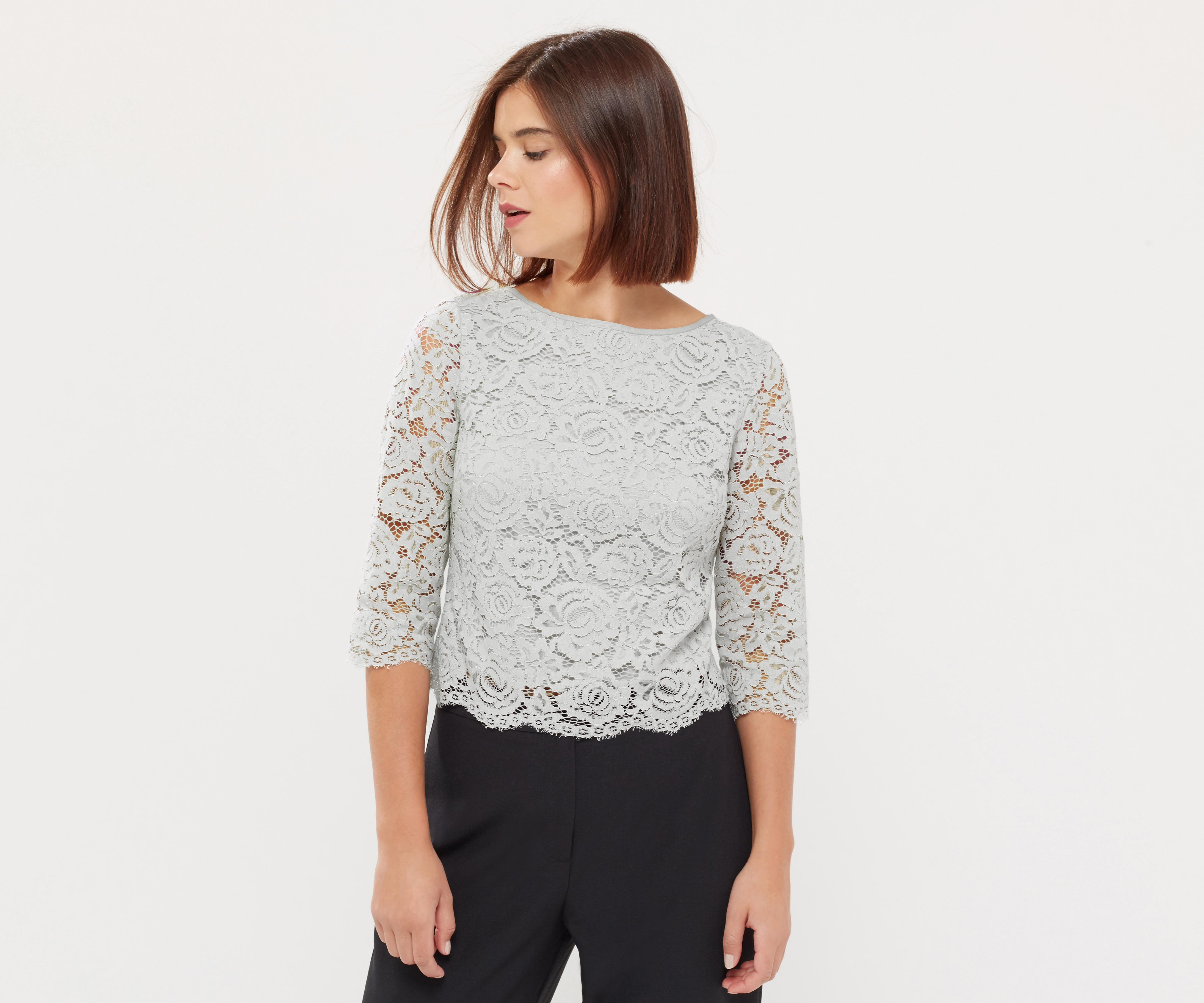 Find great deals on eBay for grey lace top. Shop with confidence.