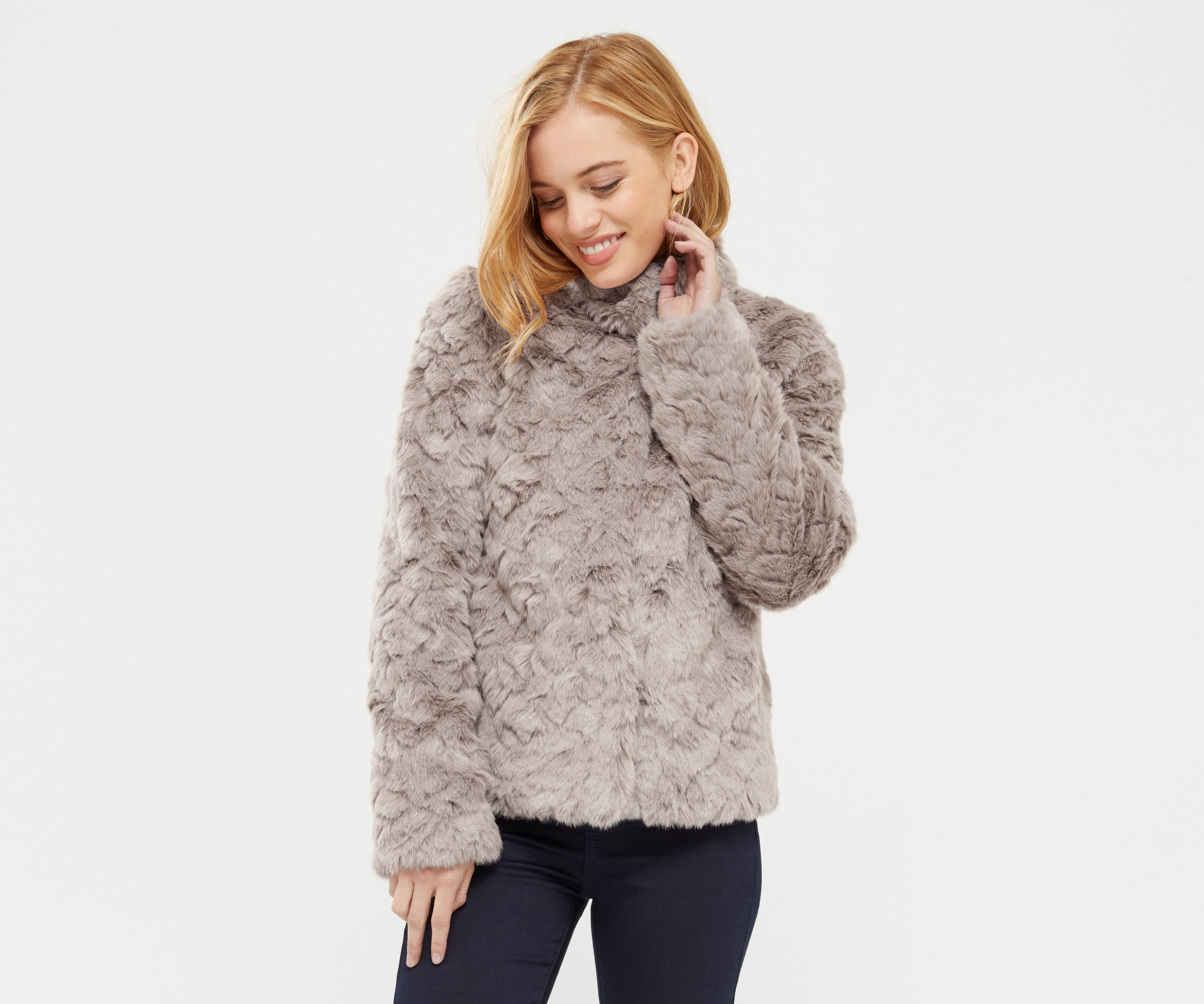 14b22adc92d9 Oasis Petite Dolly Faux Fur Coat - Lyst