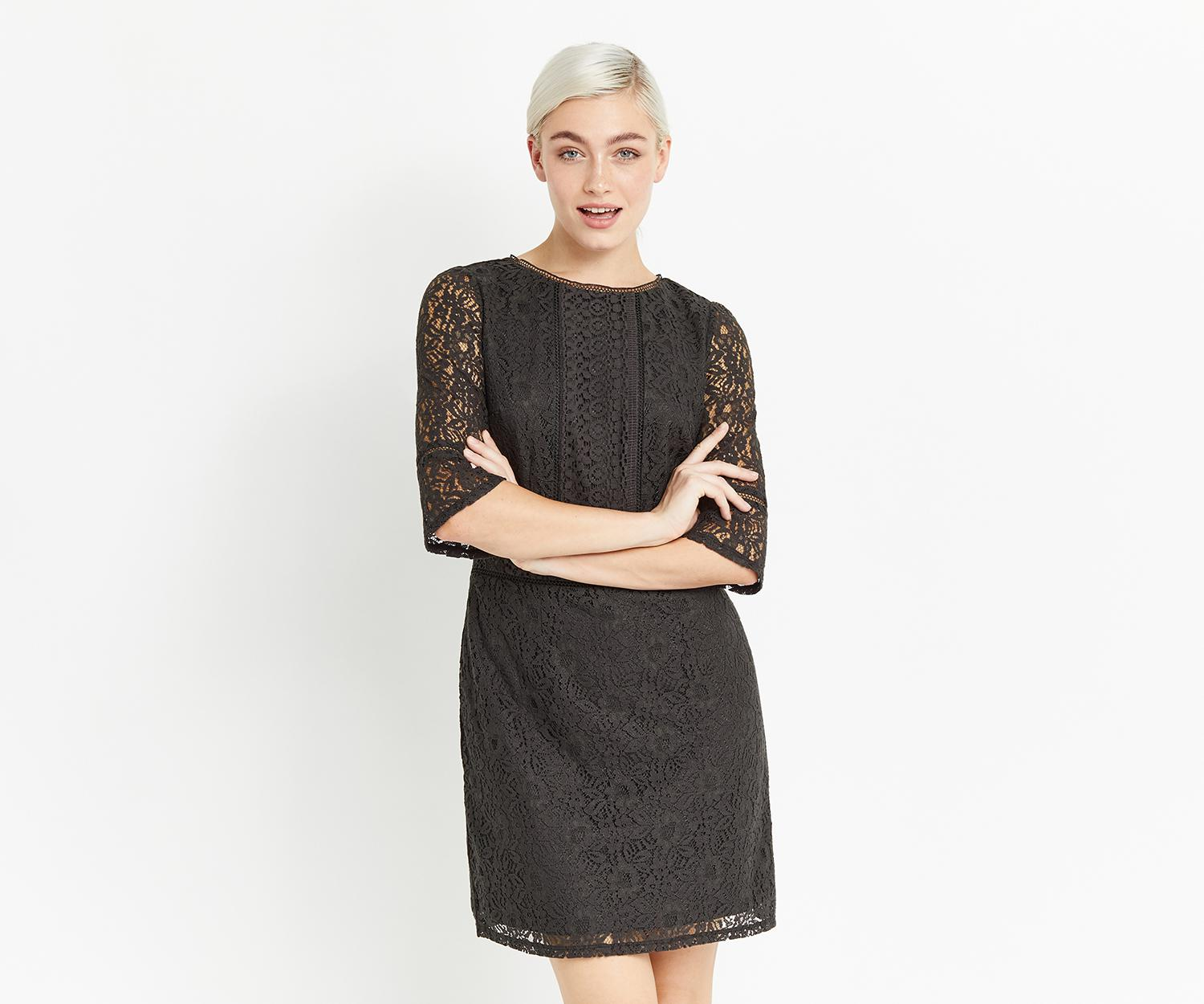 77a426a46 Lyst - Oasis Kick Sleeve Lace Dress in Gray