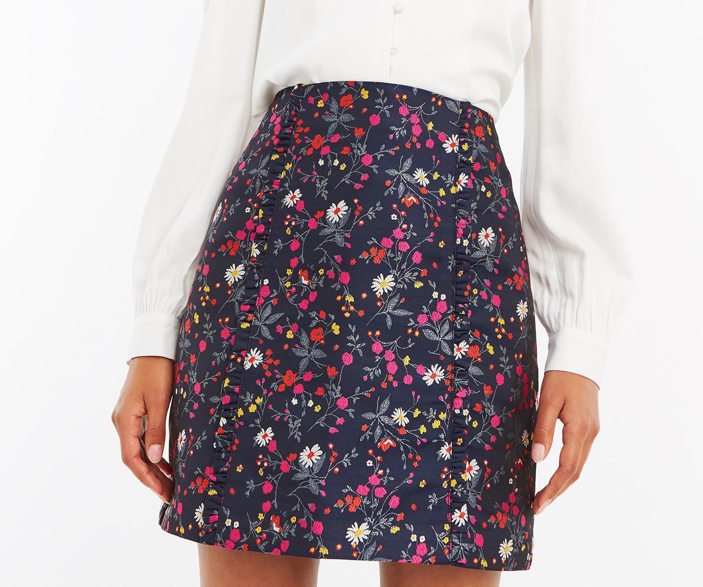 9e89d0903471 Lyst - Oasis Jacquard Ditsy Mini Skirt