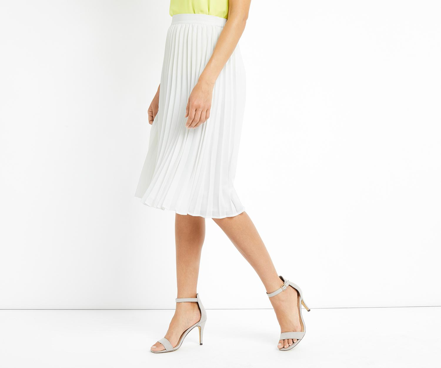 543ccf54a Oasis Lucia Pleated Skirt in White - Lyst