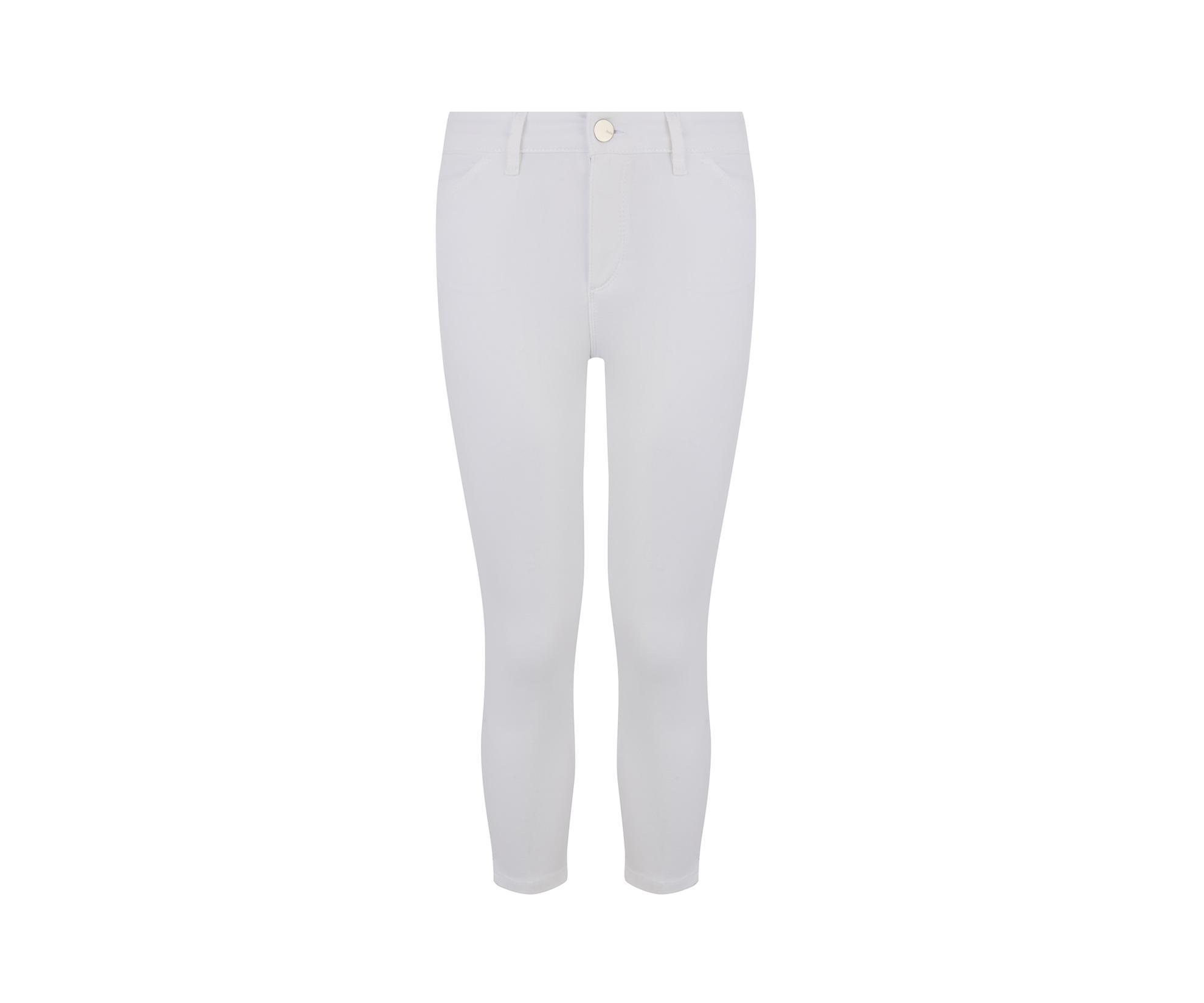 c90f1bb6dfcb Oasis - White Grace Capri Trousers - Lyst. View fullscreen