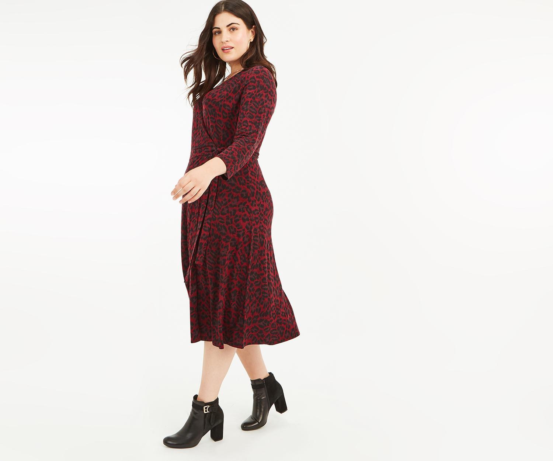 973b7f7d7244 Oasis. Women's Curve Leopard Wrap Dress*