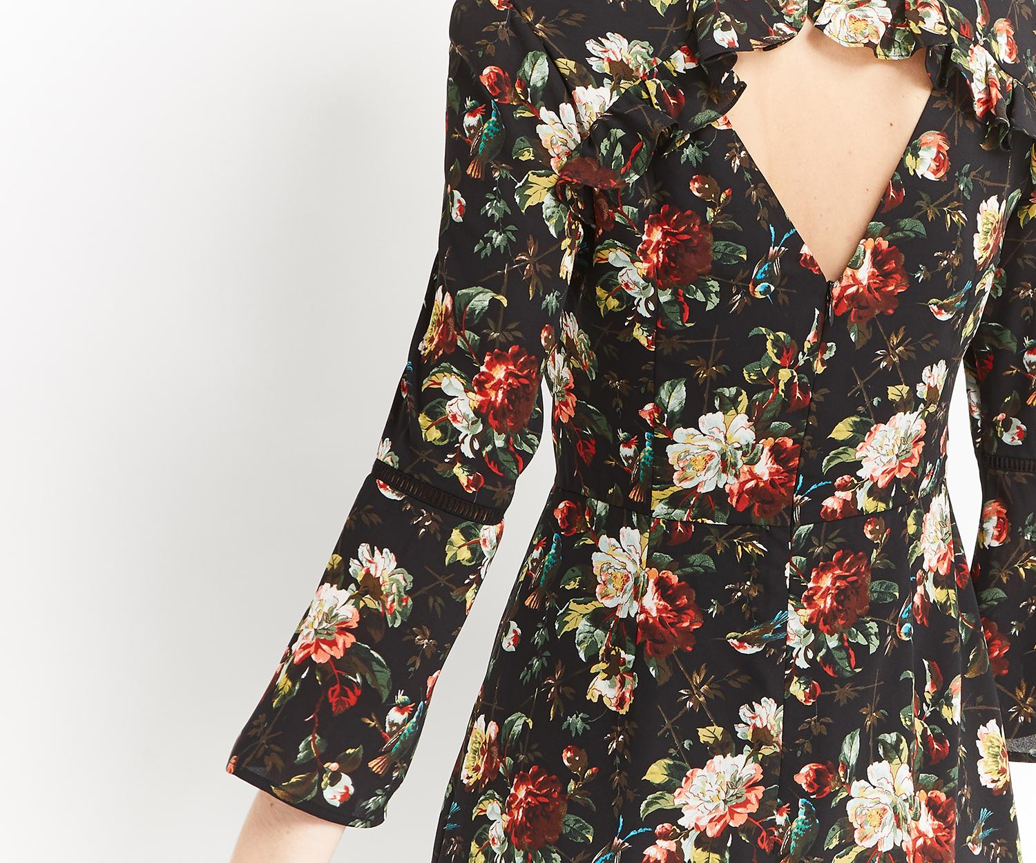 2dacdfbd70a5 Oasis Flute Sleeve Rose Shift - Lyst