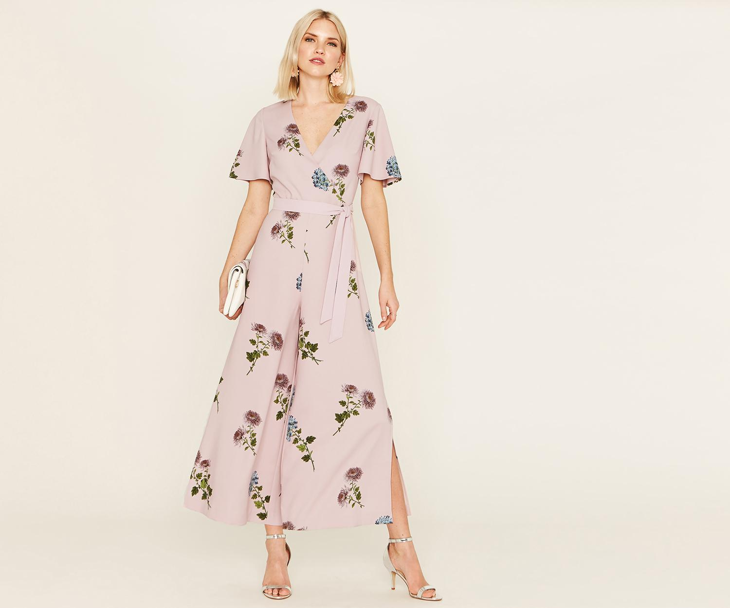 d54a04cd1970 Oasis Nhm Floral Jumpsuit in Pink - Lyst