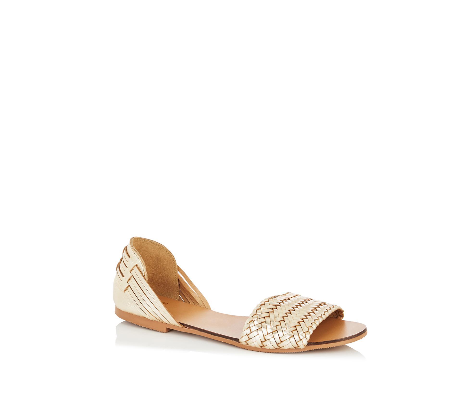 a967e958454d Oasis Hope Huarache Sandals in Metallic - Lyst