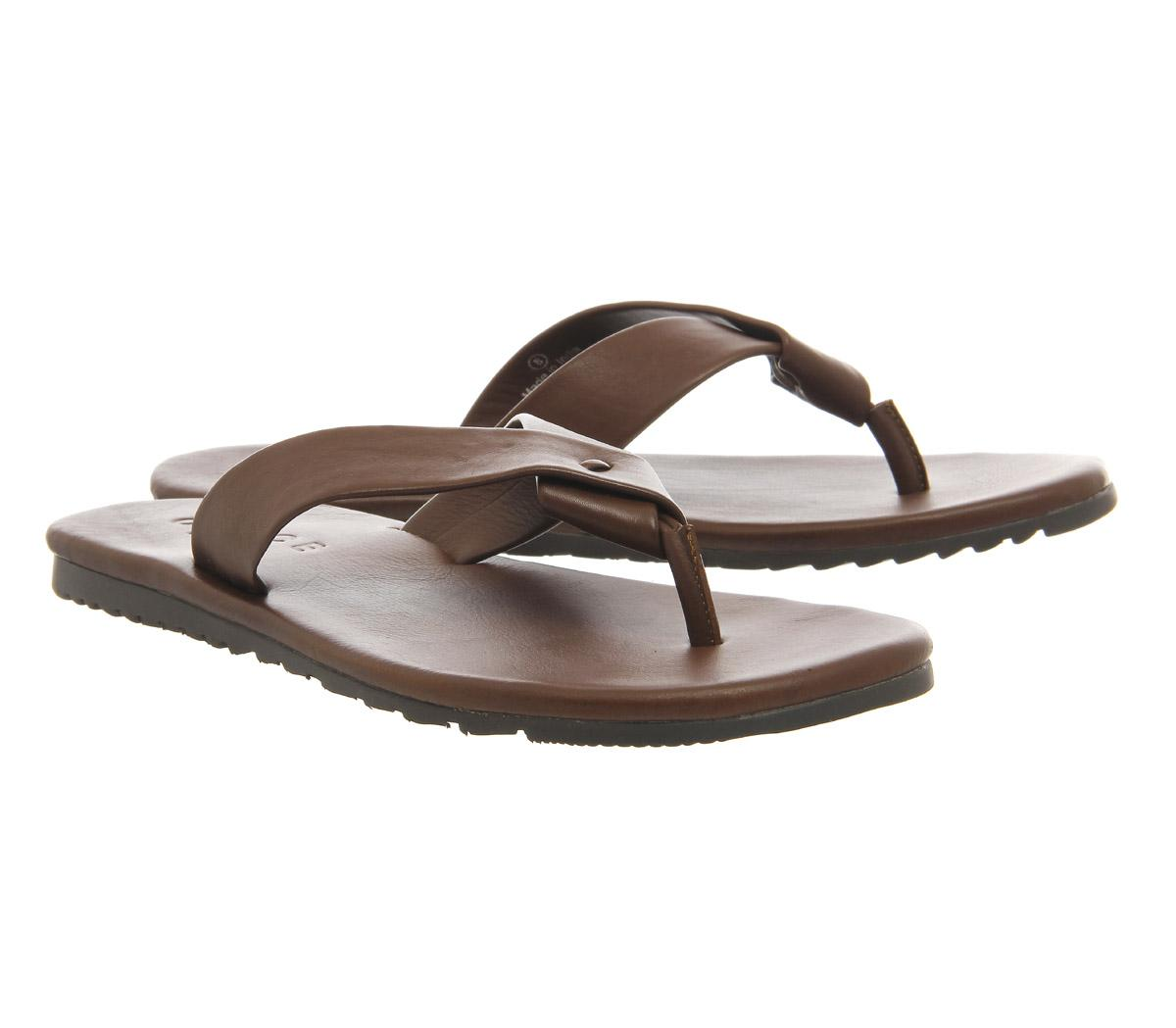 0b5e310a1aae Lyst - Office Bbq Toe Thong Sandals in Brown for Men
