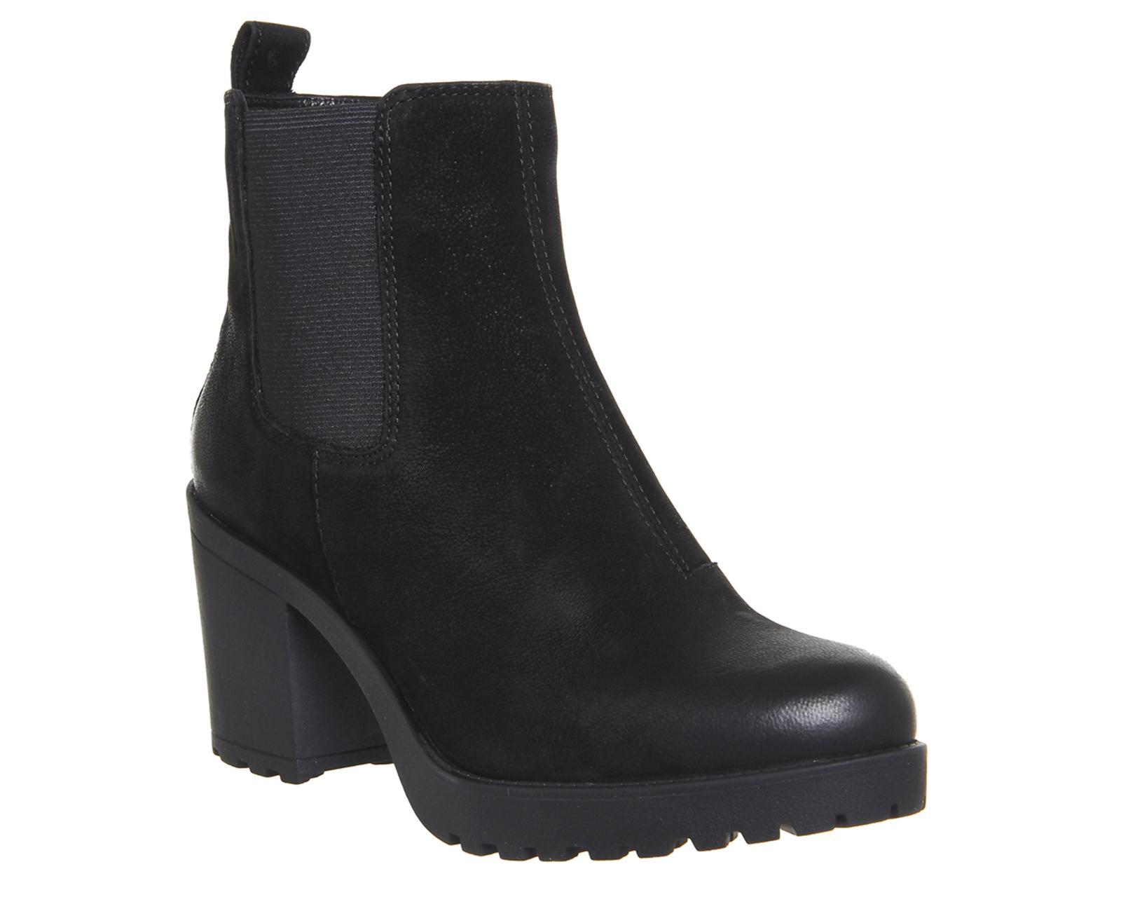 vagabond grace heeled chelsea boots in black lyst. Black Bedroom Furniture Sets. Home Design Ideas