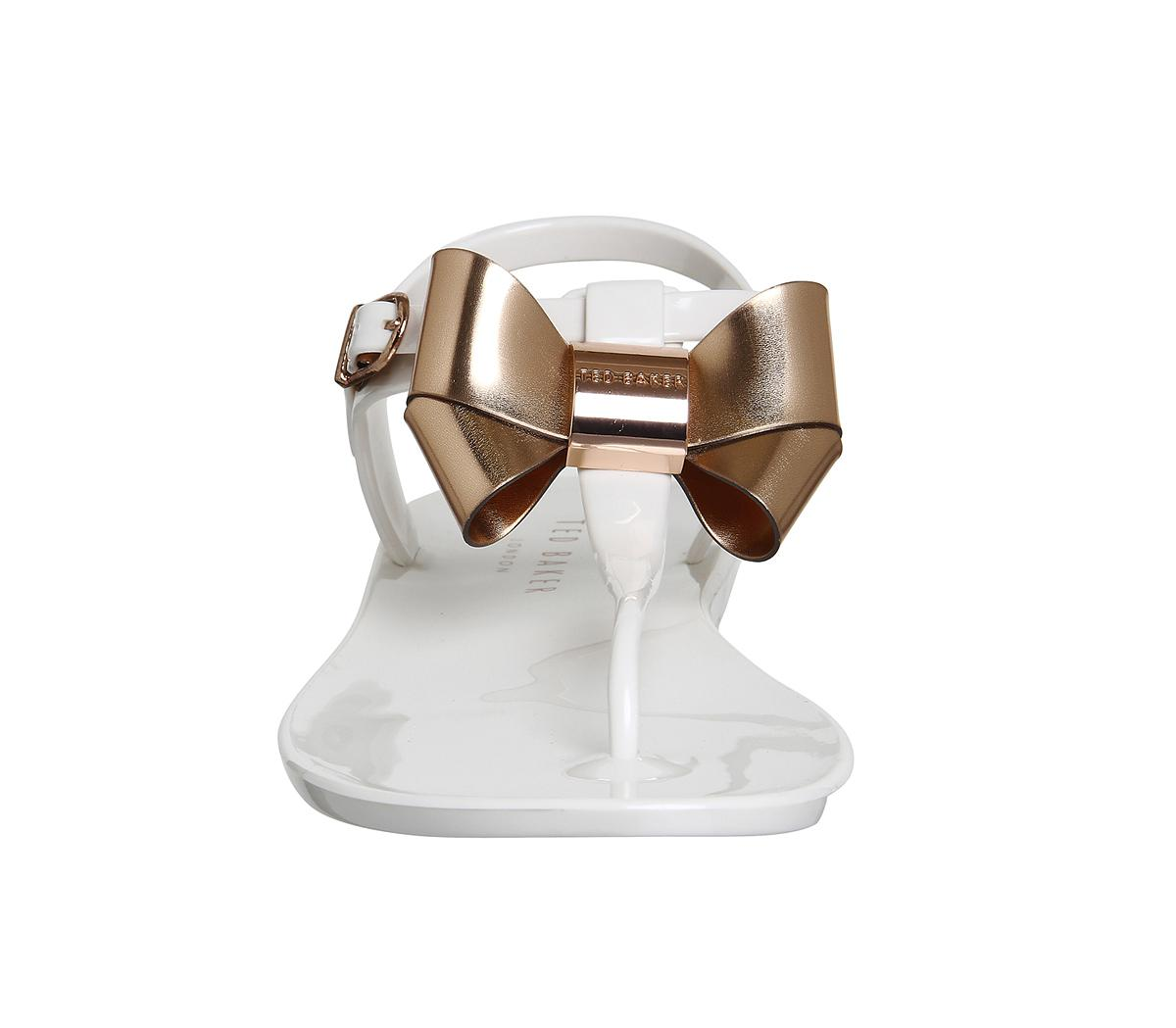 Lyst Ted Baker Verona Bow Sandals In White