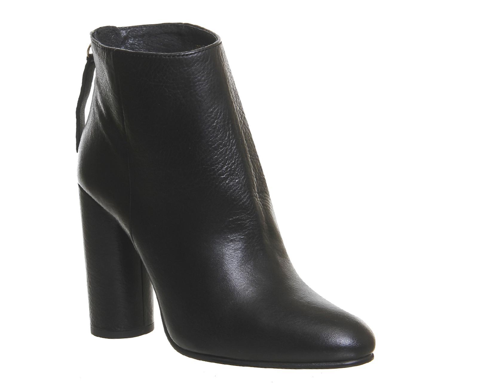Office. Women's Black Illinois Cylindrical Heel Boots