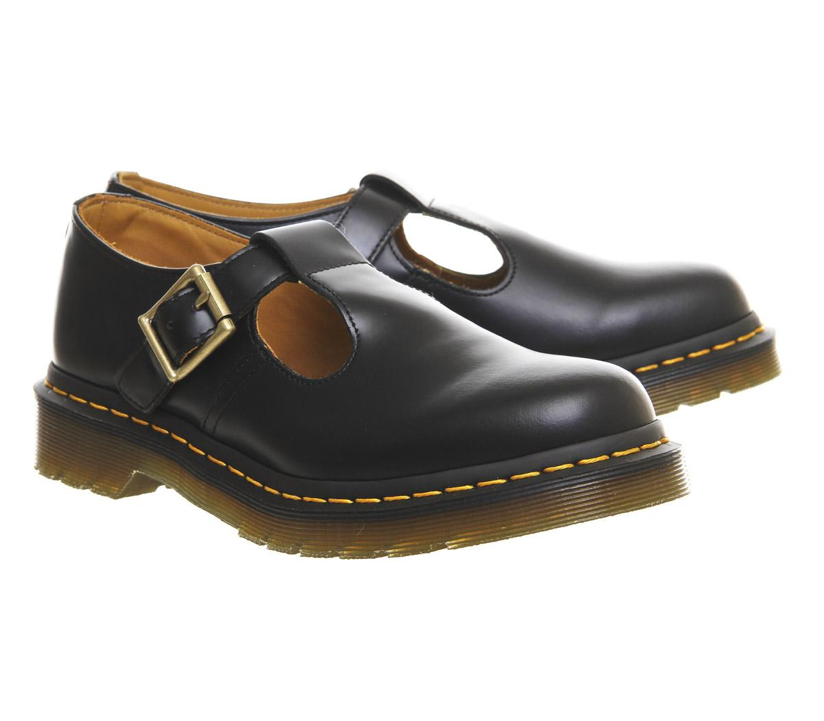 dr martens polley t bar shoes in black lyst. Black Bedroom Furniture Sets. Home Design Ideas