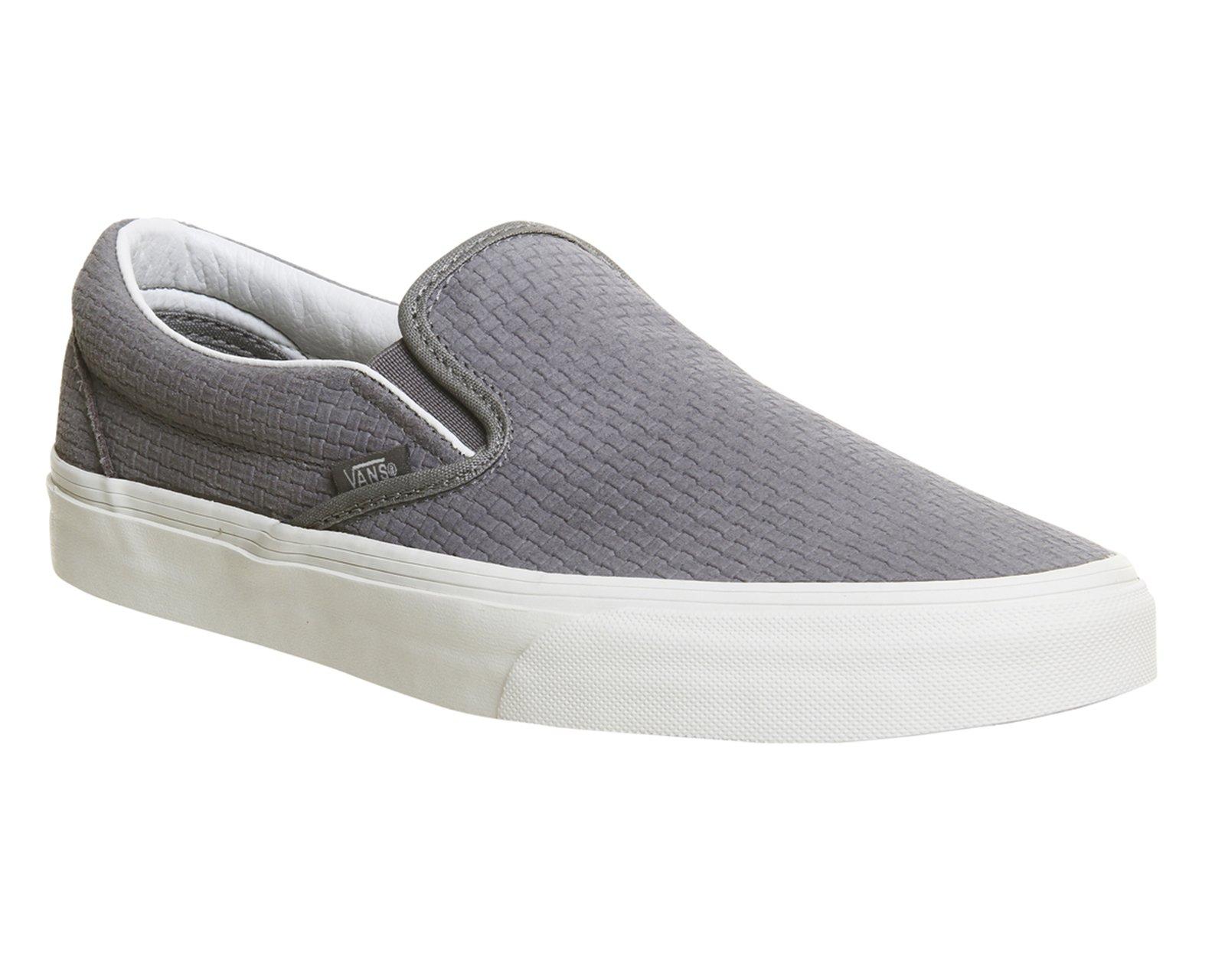 Vans Slip On Suede Black Grey Shoes