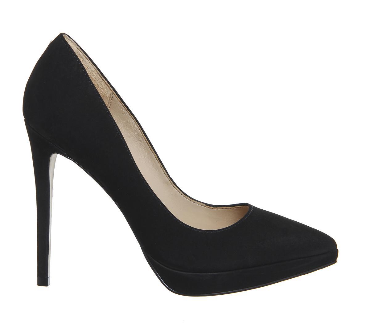 office naples platform court heels in black lyst