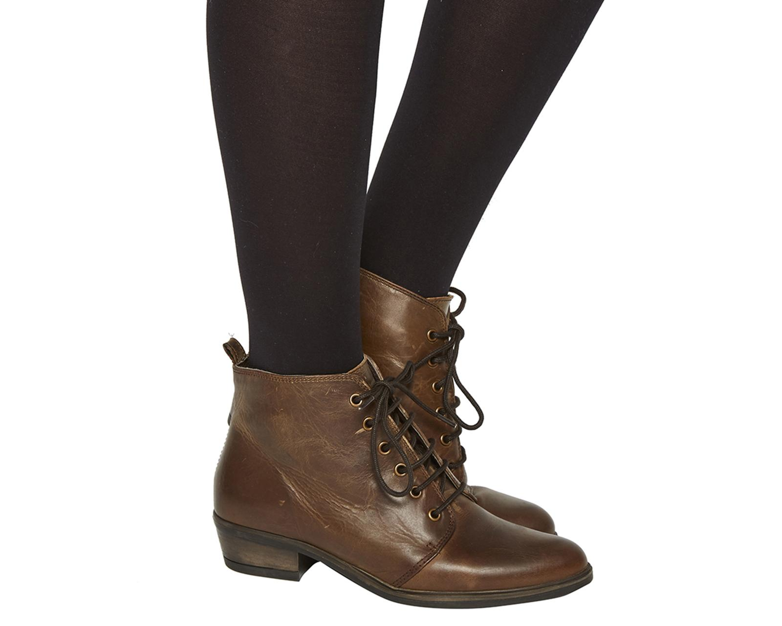 office loren lace up boots in brown lyst