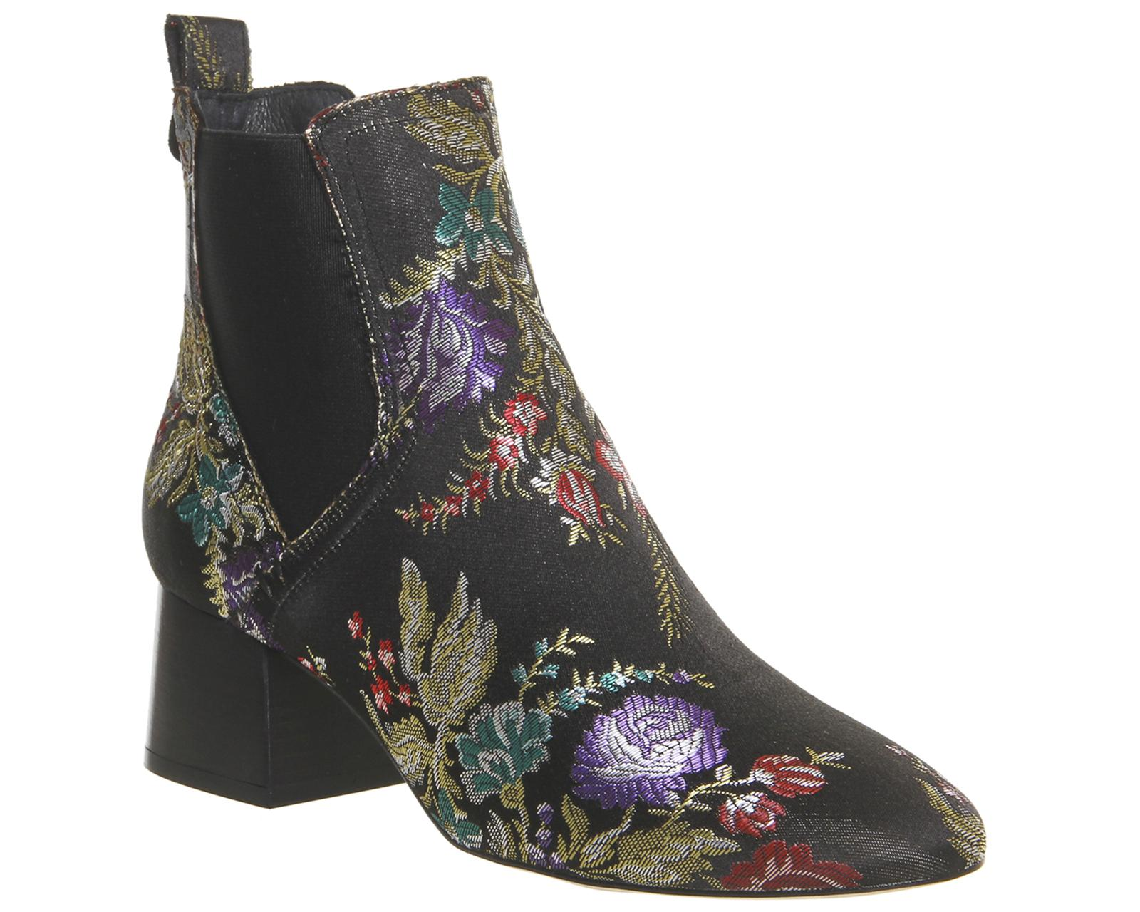office limelight block heel chelsea boots in black lyst