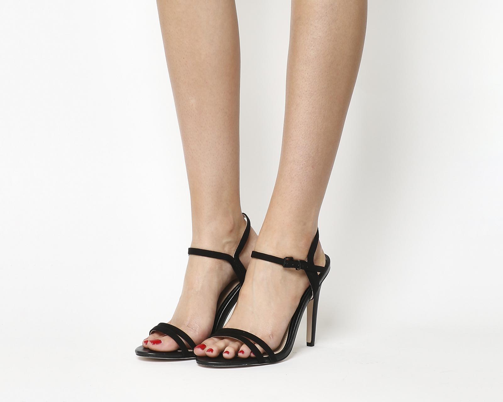 4f65ed73fd Lyst - Office Jeopardy Single Sole High Heel Sandals in Black