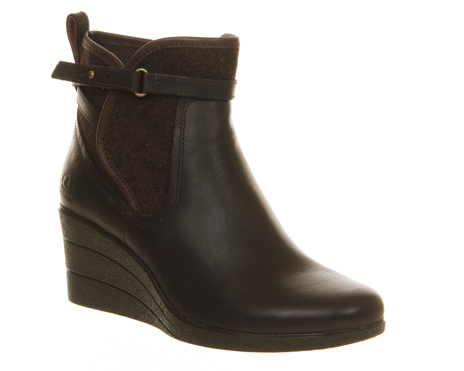 622eceaa1d8 Lyst - UGG Emalie Wedge Boots in Brown