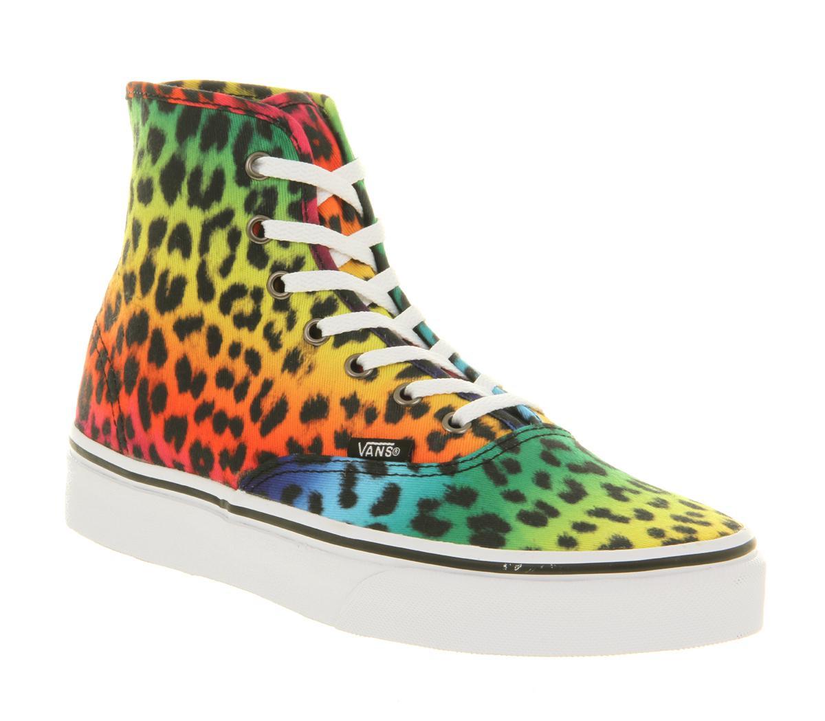 Lyst - Vans Authentic Hi Leopard Black Rainbow for Men 31f9154e7