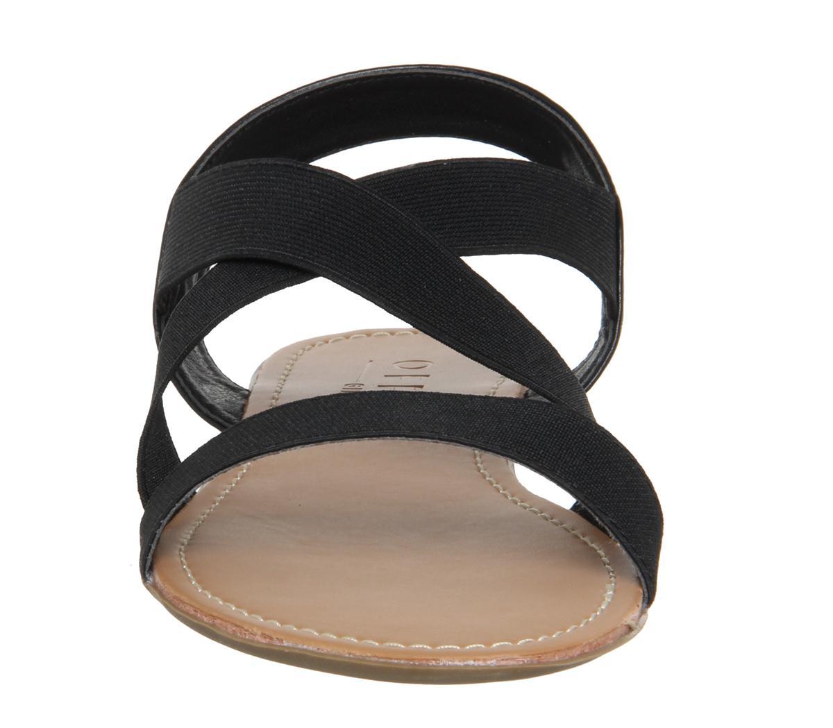 b93ff072f817 Office Orbit Elastic Strap Sandals in Black - Lyst