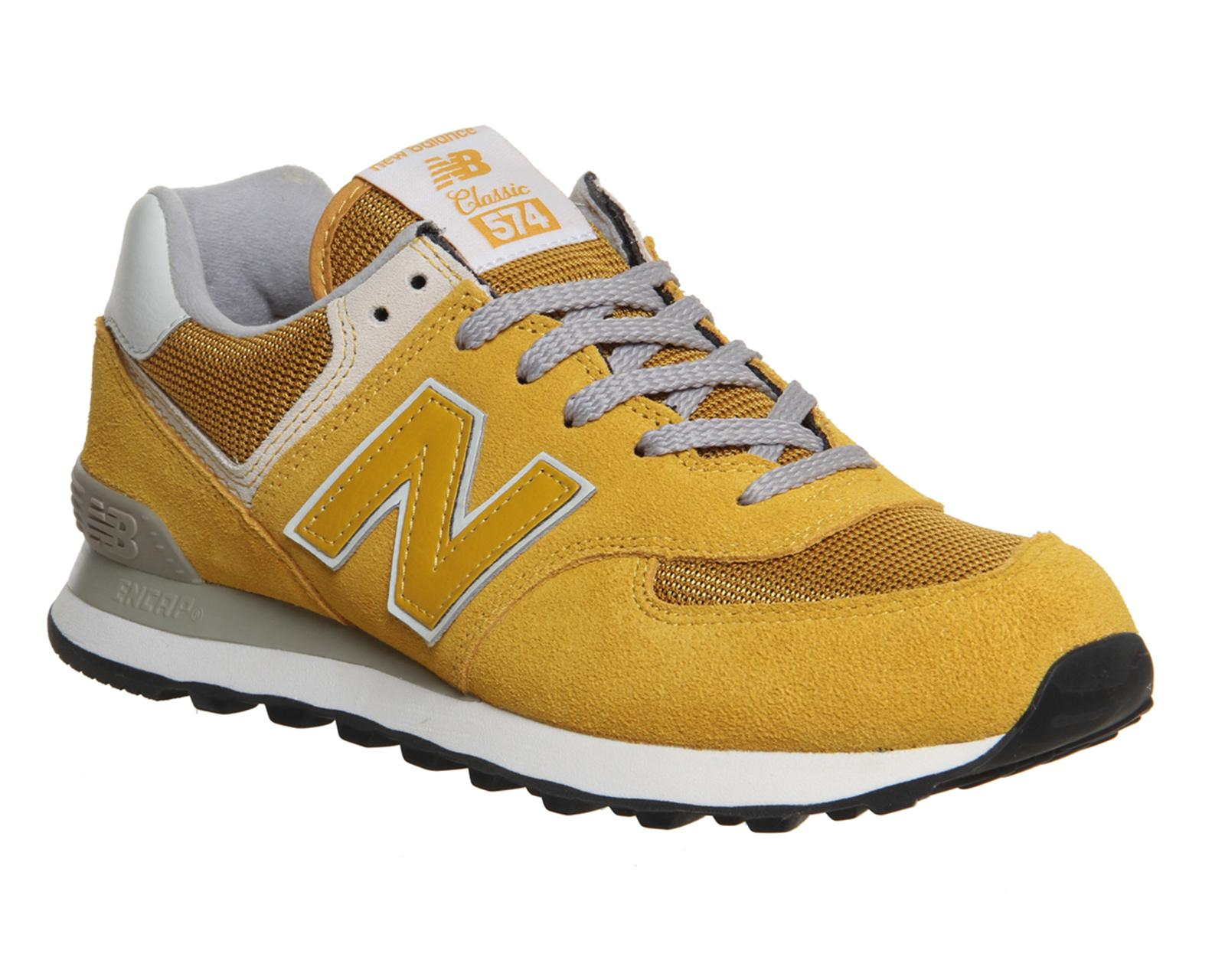 huge inventory bd641 84f4f New Balance M574 in Yellow for Men - Lyst