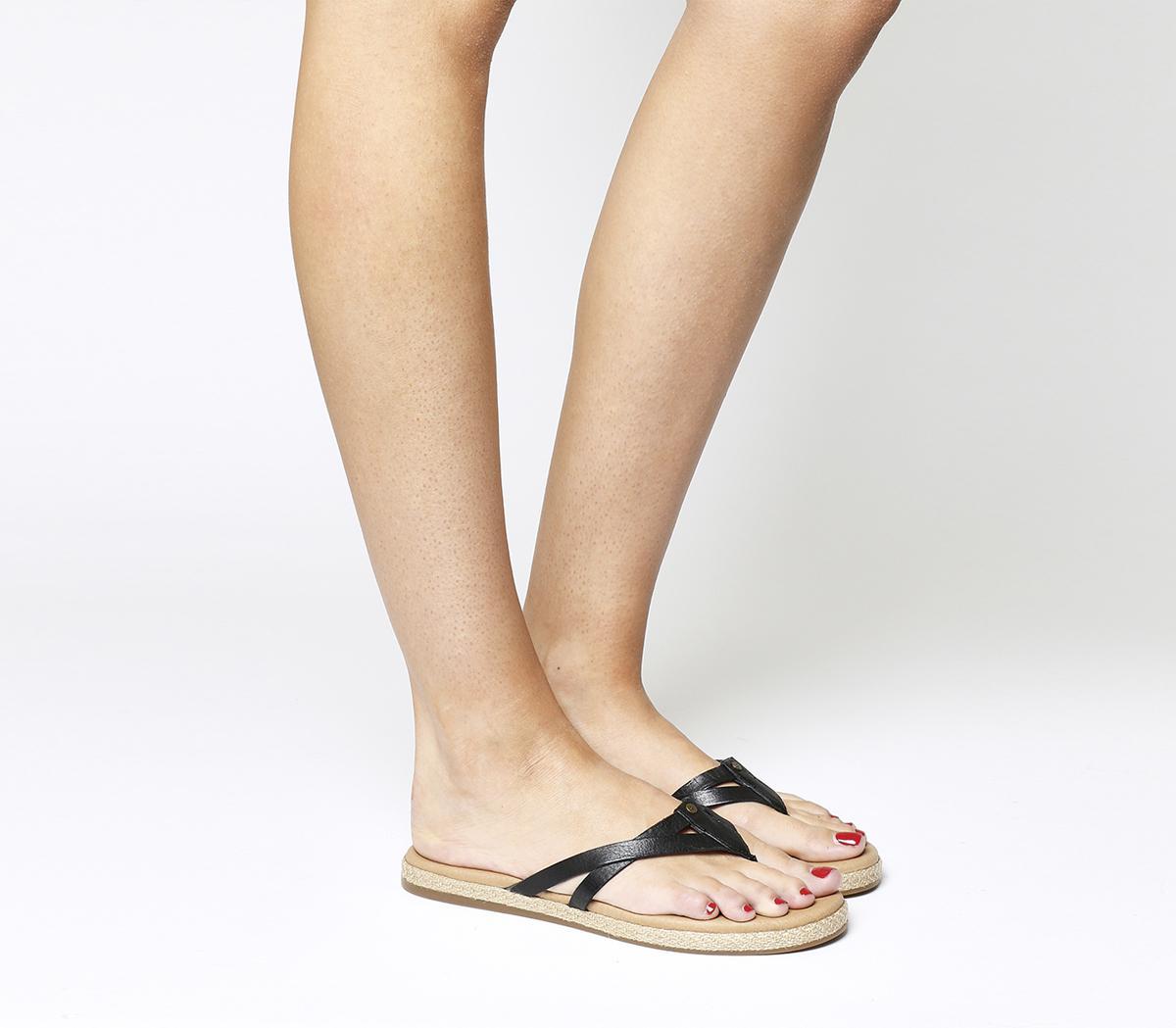 faaaa276e89 UGG Annice Flip Flops in Black - Lyst