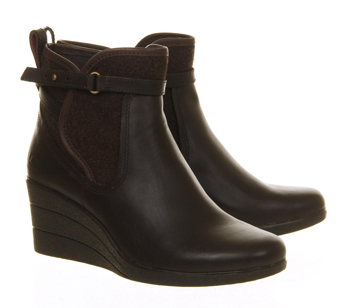 cb233cf2c92 Lyst - UGG Emalie Wedge Boots in Brown