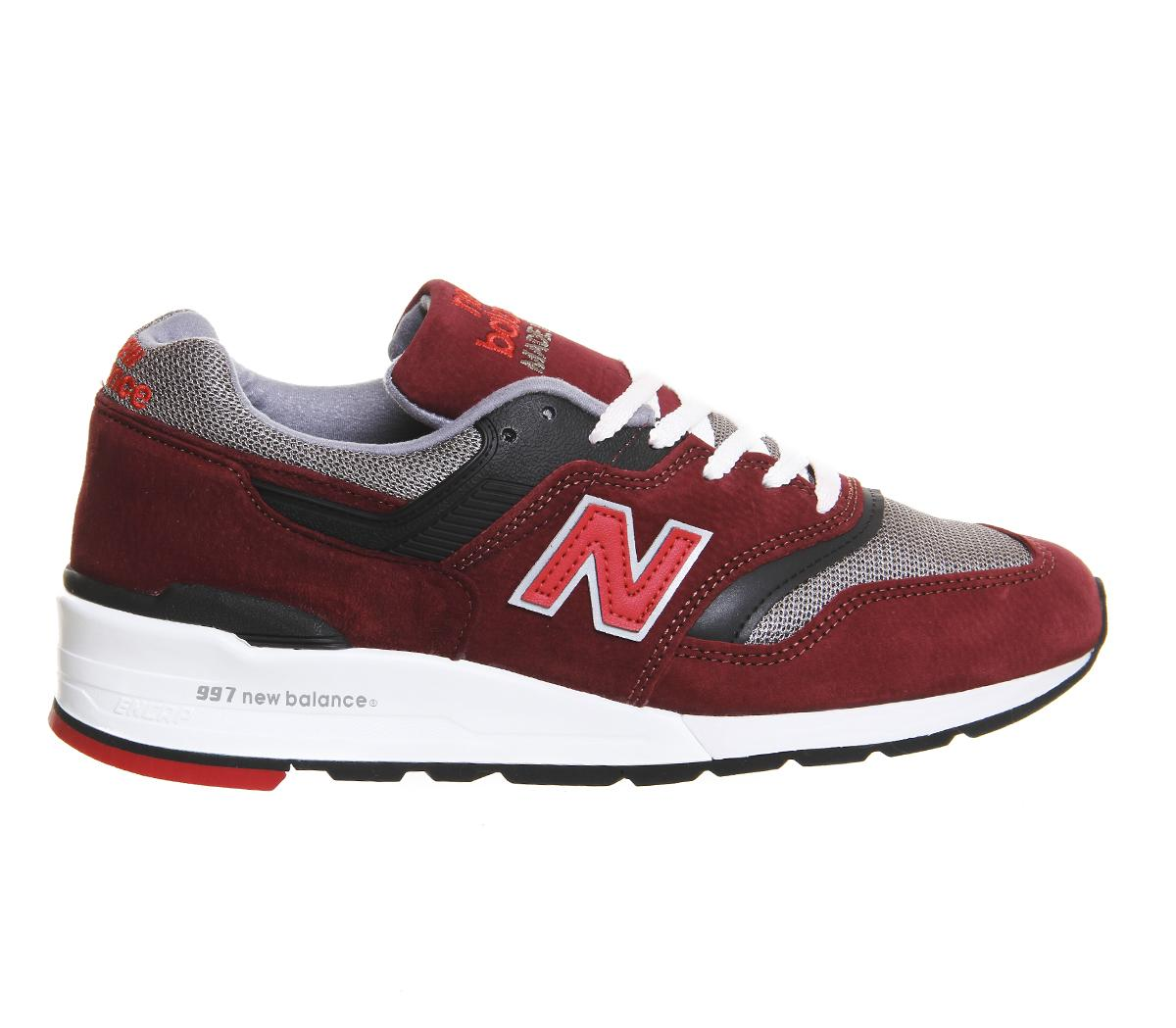 new balance m997 trainers in red lyst. Black Bedroom Furniture Sets. Home Design Ideas