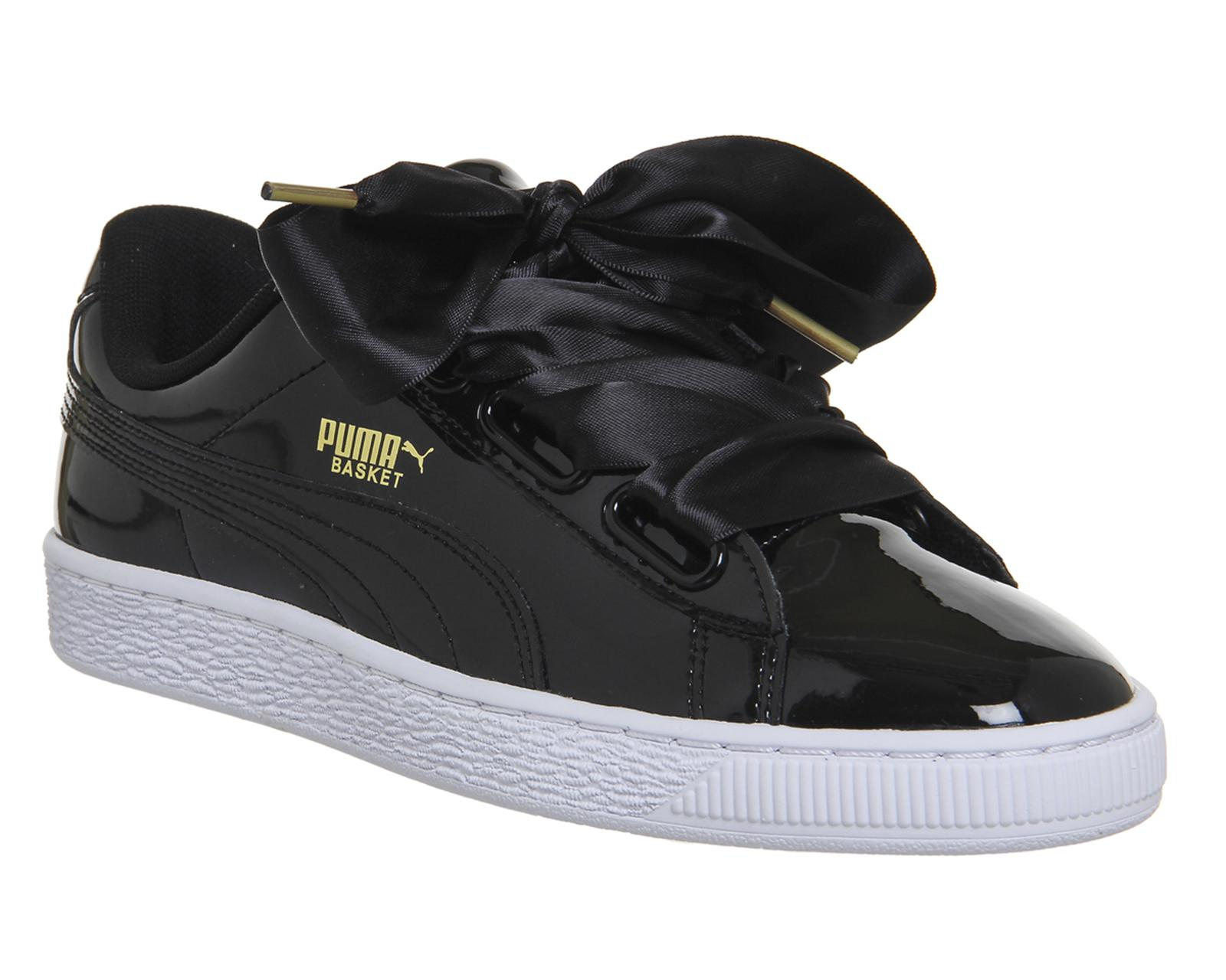 00c65ff5124 PUMA Basket Heart Trainers in Black - Lyst
