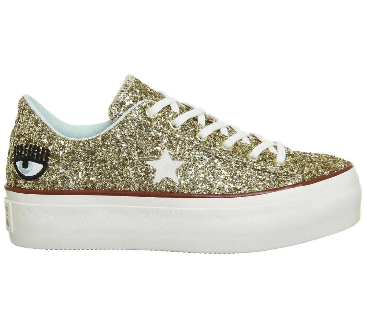 55a69d5a7626 Lyst - Converse One Star Platforms in Metallic
