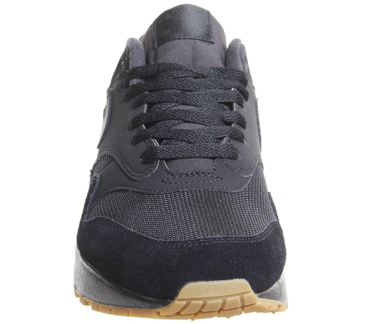 promo code e5353 063dd Nike - Black Air Max 1 Trainers for Men - Lyst. View fullscreen