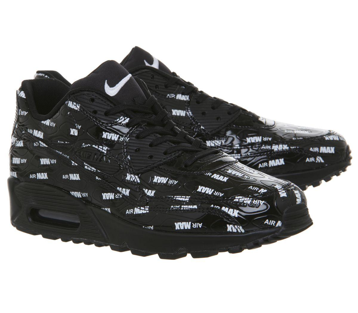 9576c4fbf5 Nike Air Max 90 Trainers in Black for Men - Lyst