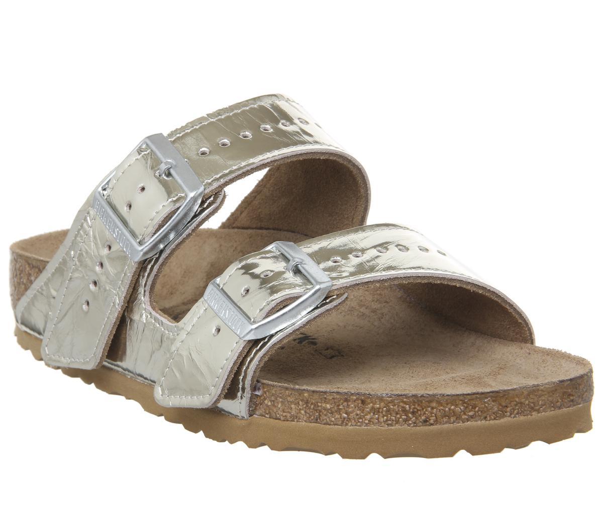 60f8b426fb3a Lyst - Rick Owens Rick Owen Arizona Two Strap Sandals in Metallic
