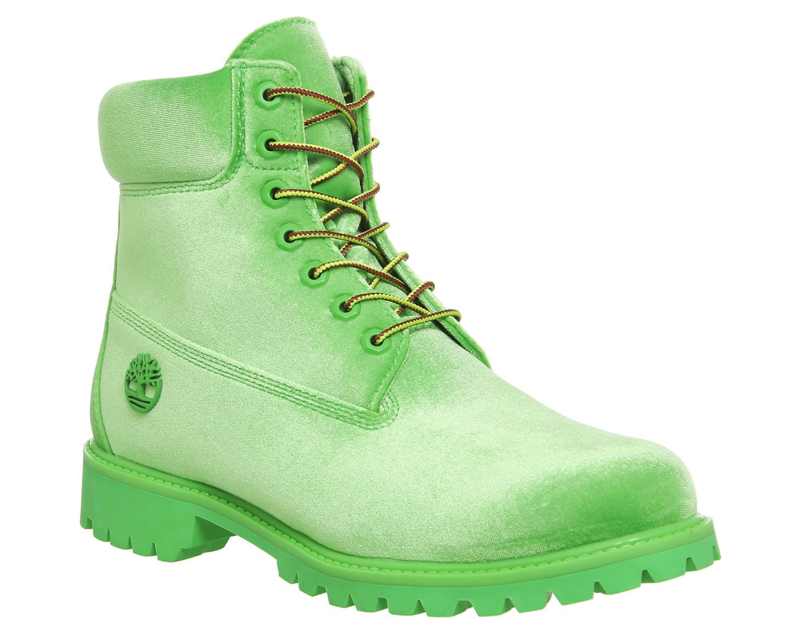 ботинки кислотного цвета