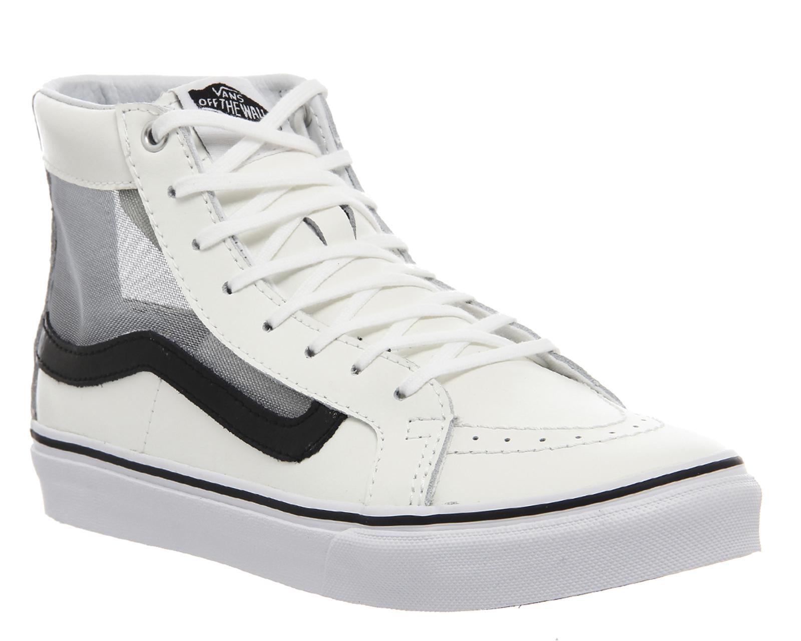 e8587d1a7ae94 Lyst - Vans Sk8 Hi Slim in White