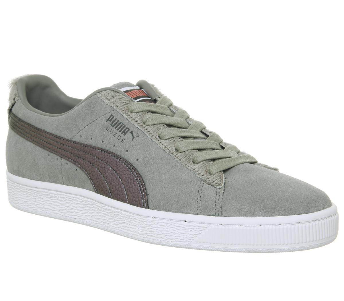 fa29c15c8974 Puma Suede Classic Trainers in Gray for Men - Lyst